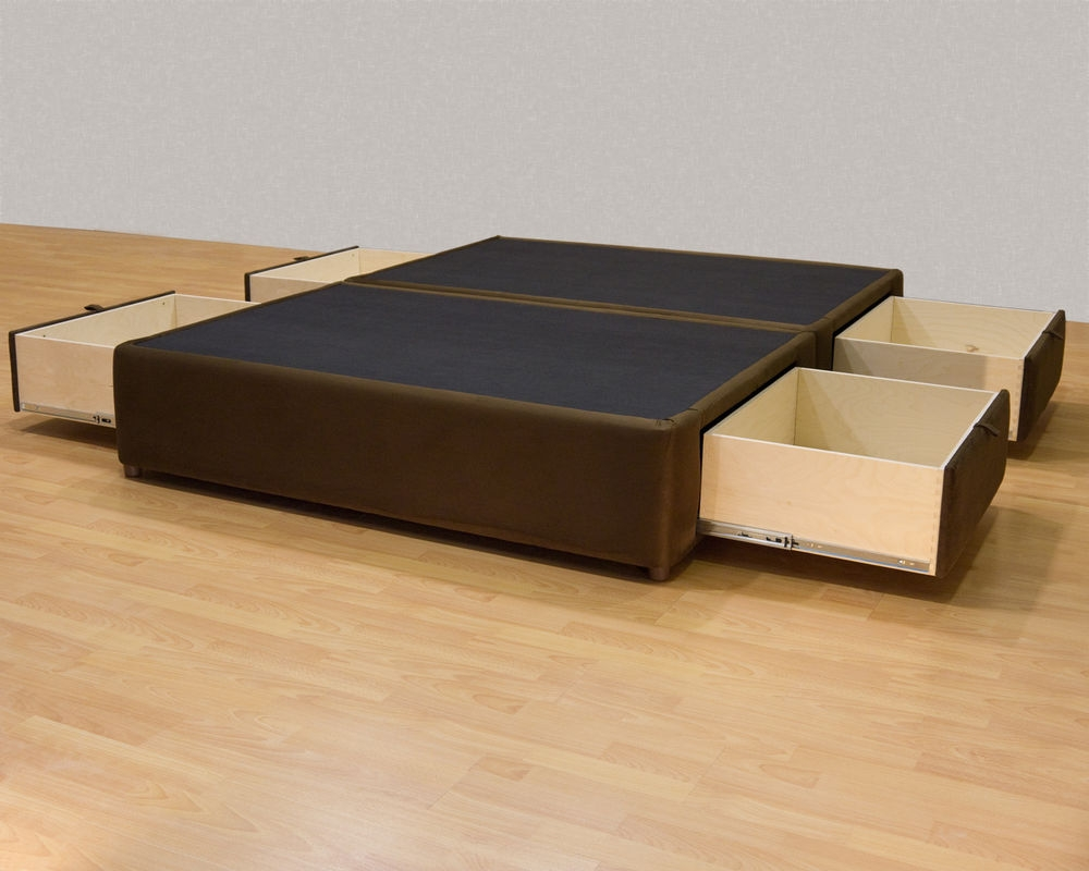 King Bed Frames With Drawers