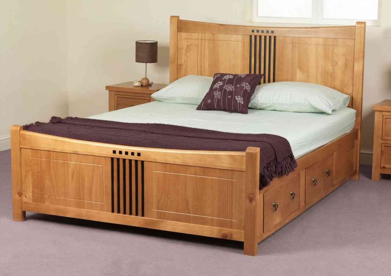 Permalink to King Size Oak Bed Frame With Drawers
