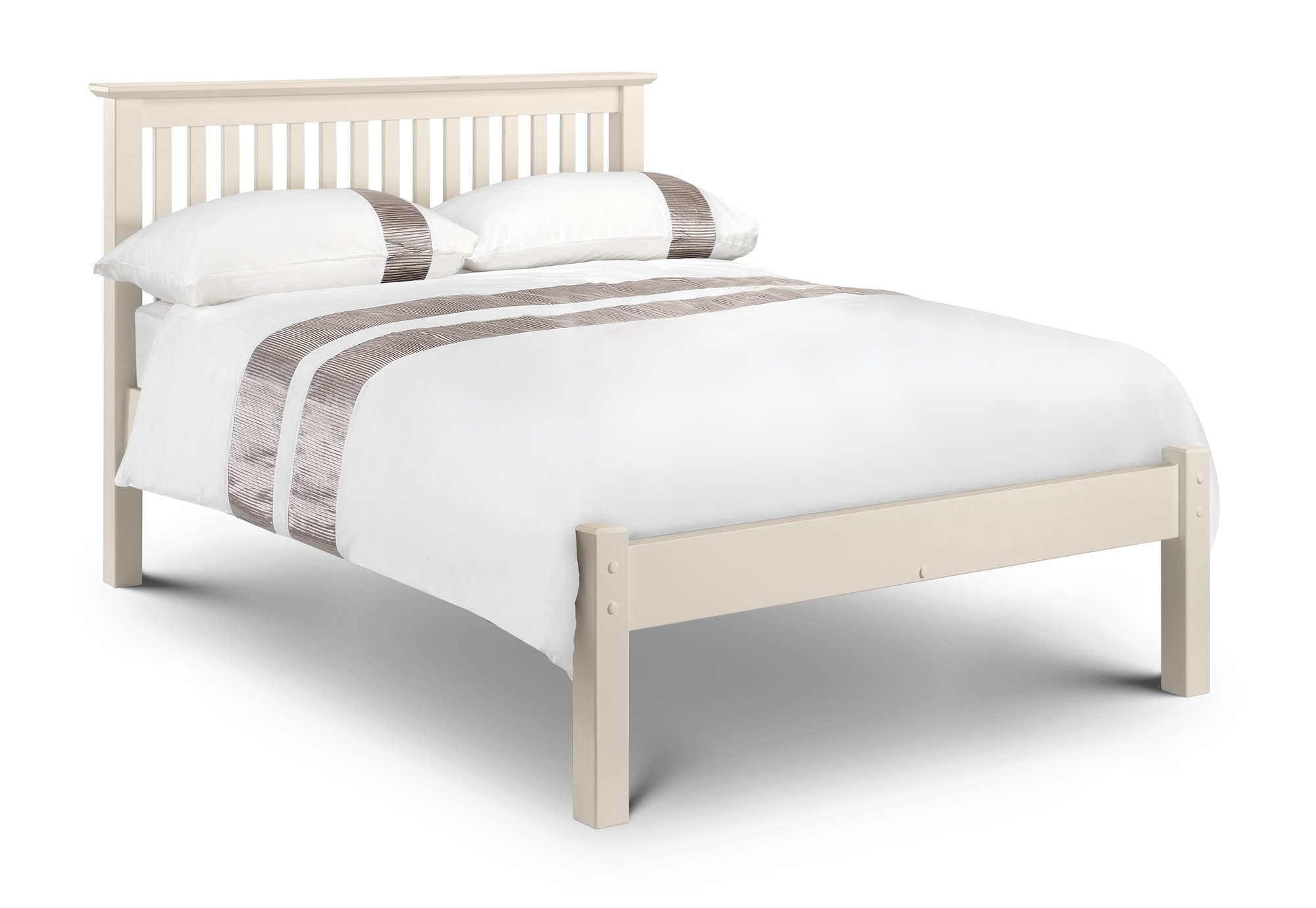 King Size Wooden Bed Frame Low Foot End