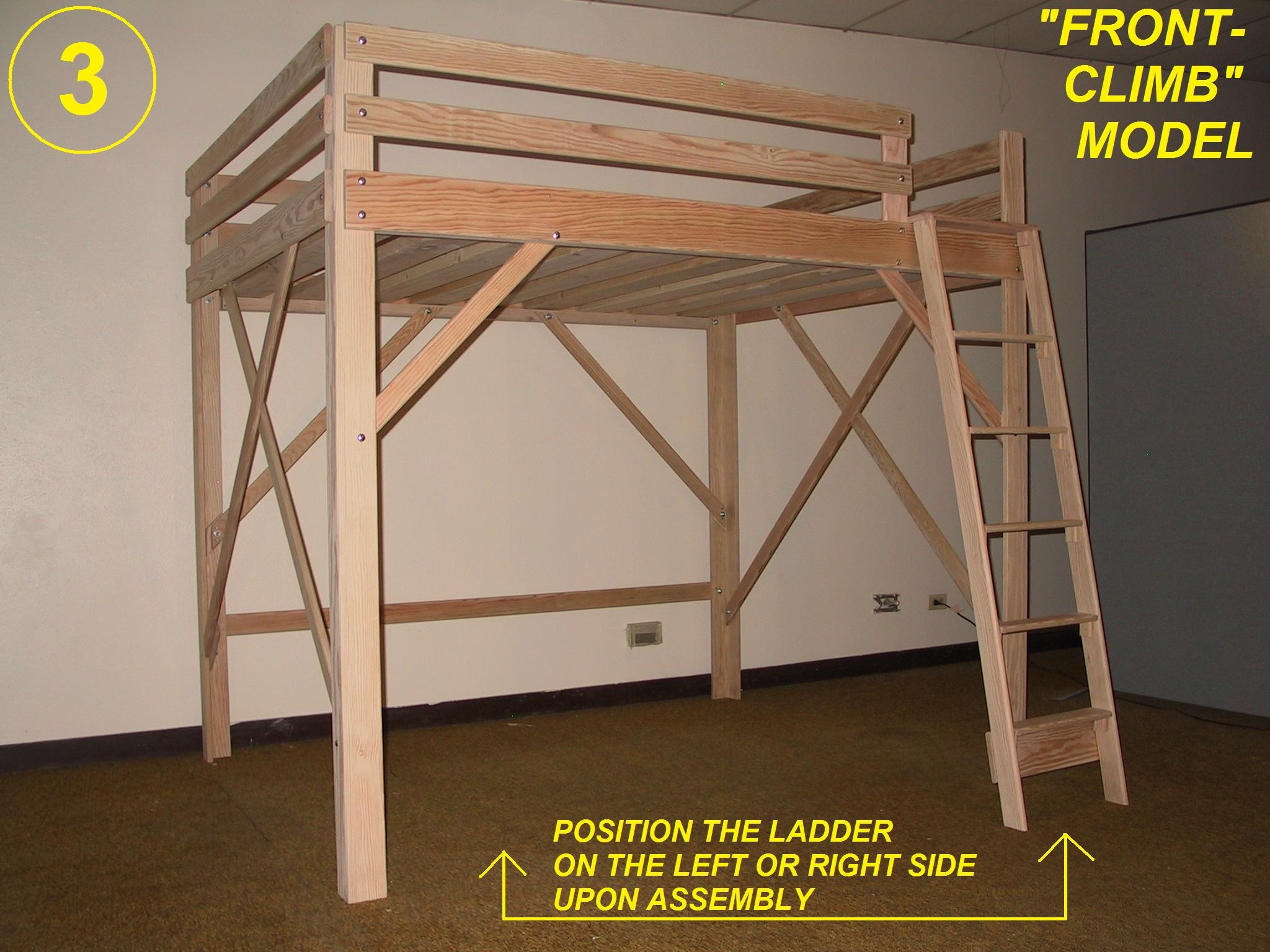 Lofted Queen Bed Frame