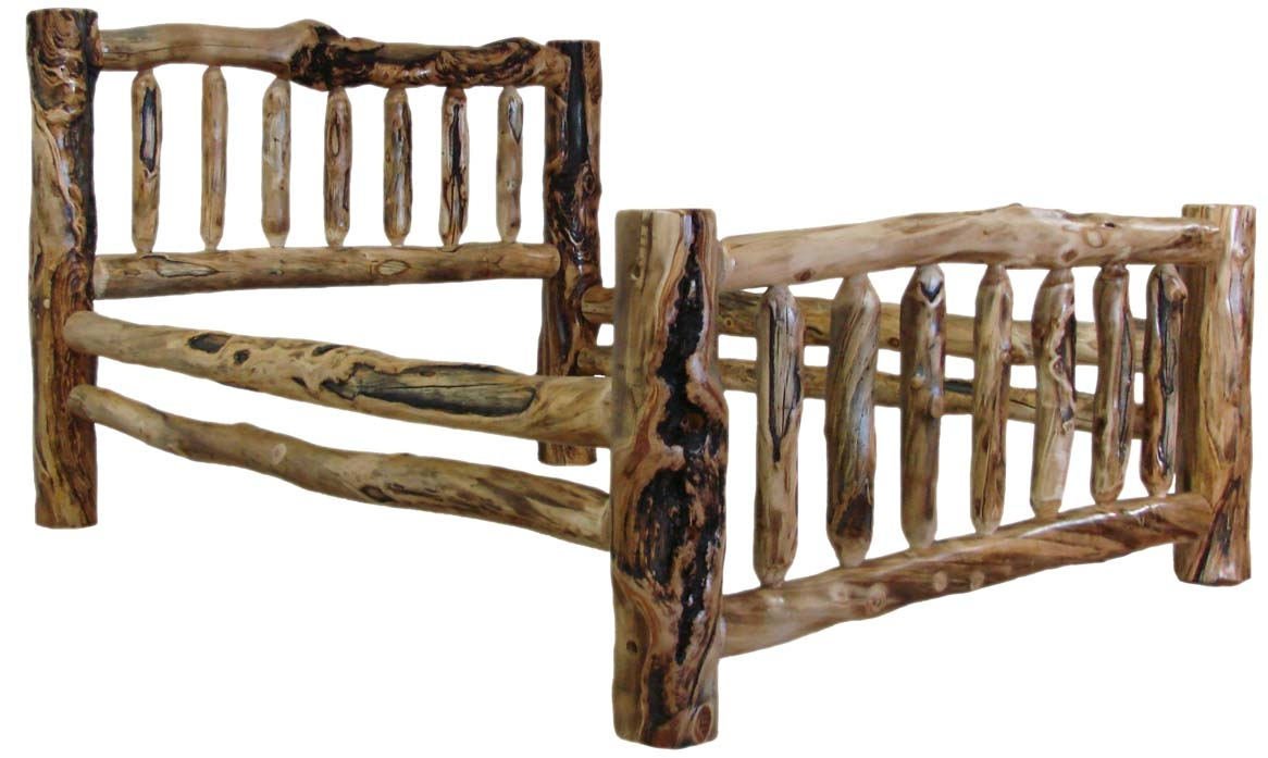 Log Bed Frame King