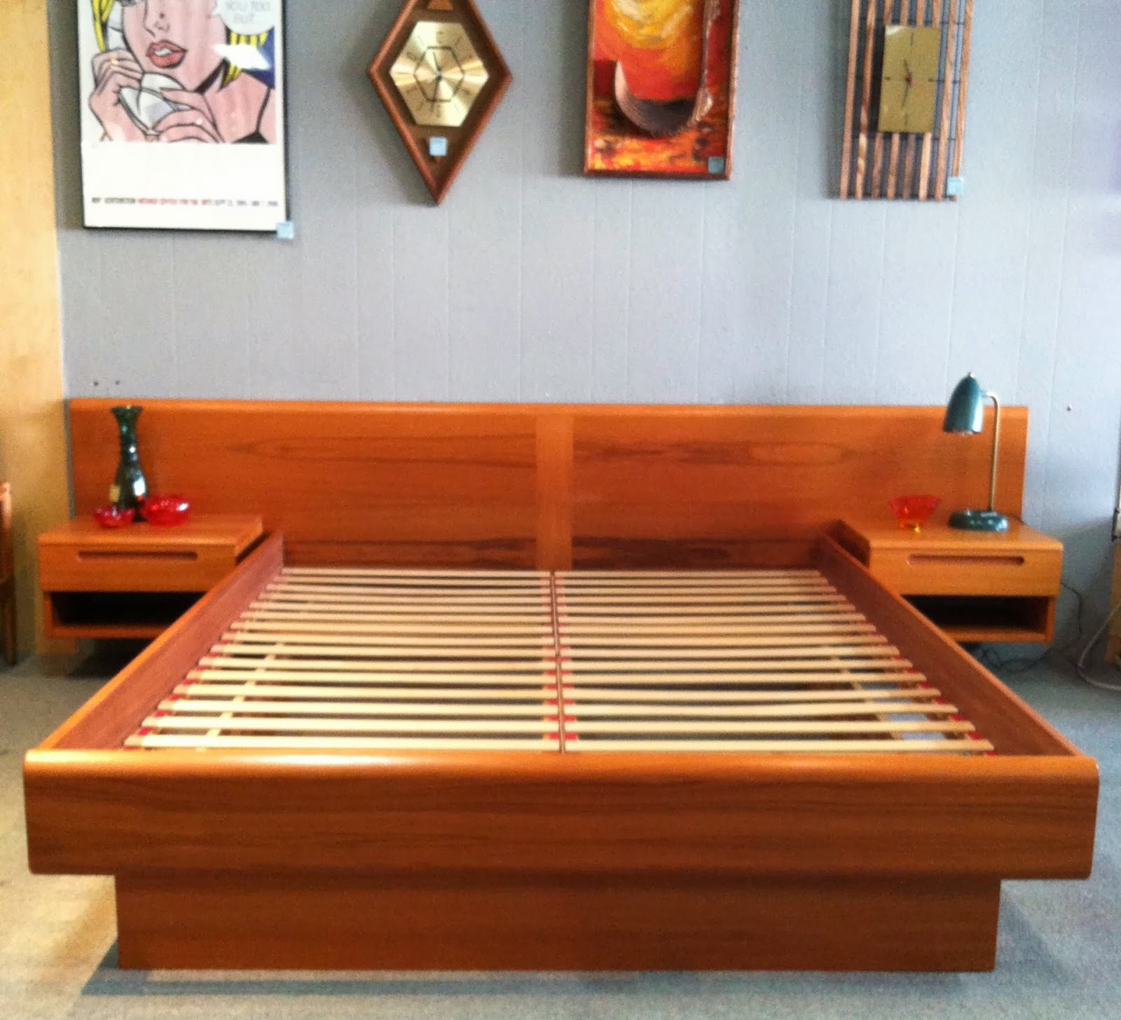 Low Profile Wooden Bed Frame King