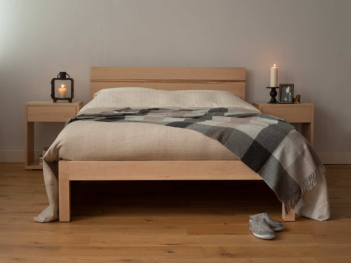 Maple Bed Frame Doubletibet solid wood bed hand made beds natural bed company