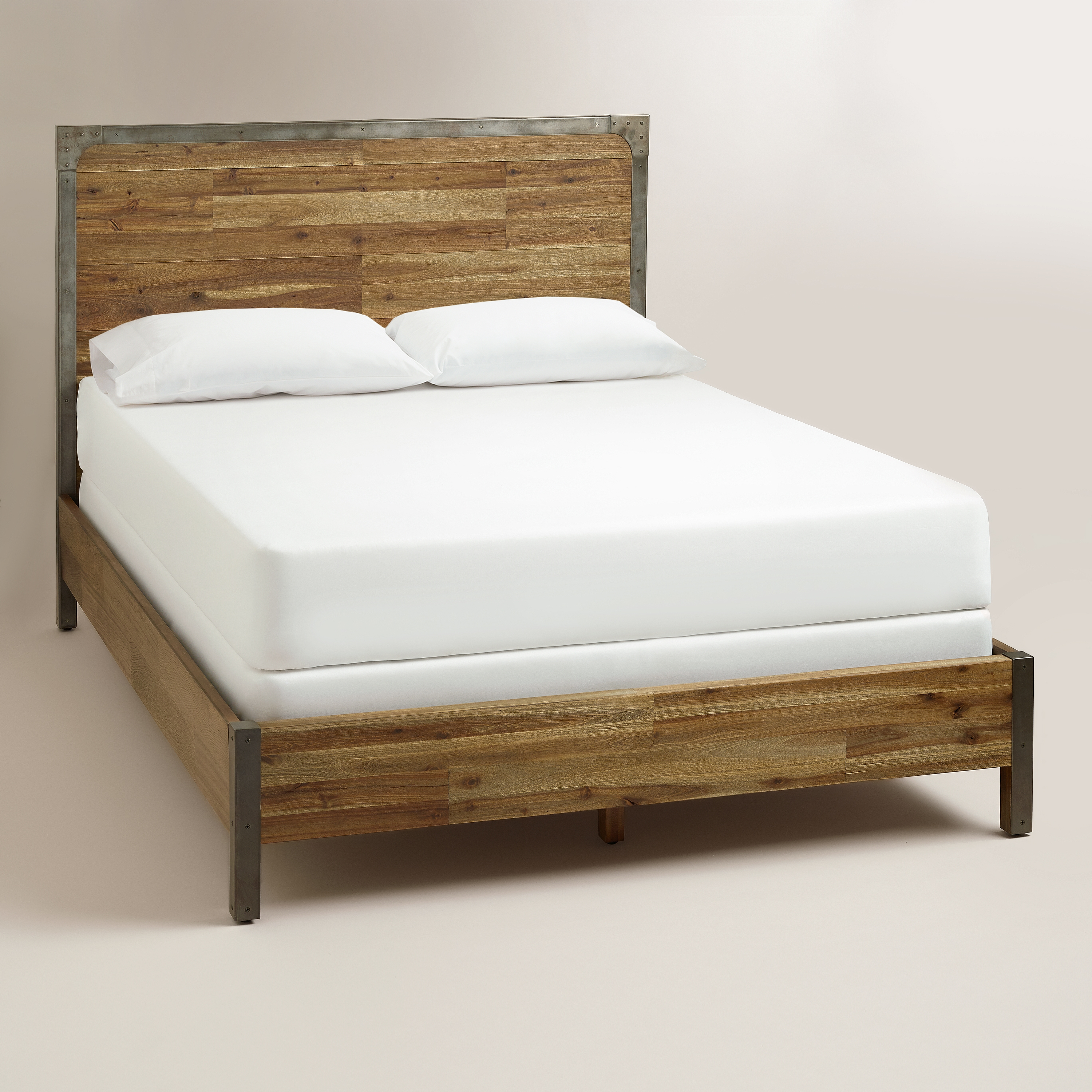 Metal And Wooden Bed Frame