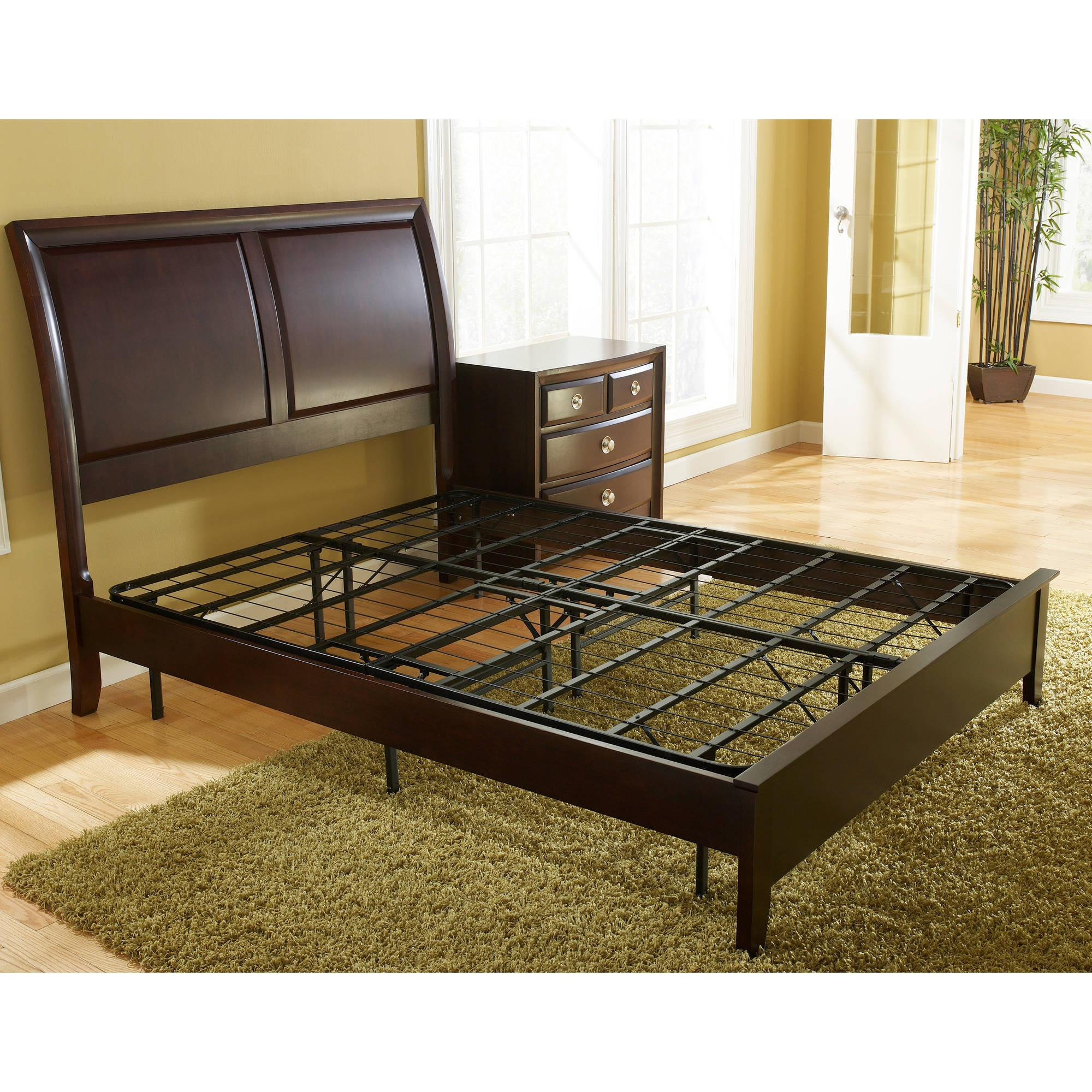 Permalink to Metal Bed Frame With Headboard And Footboard Attachments