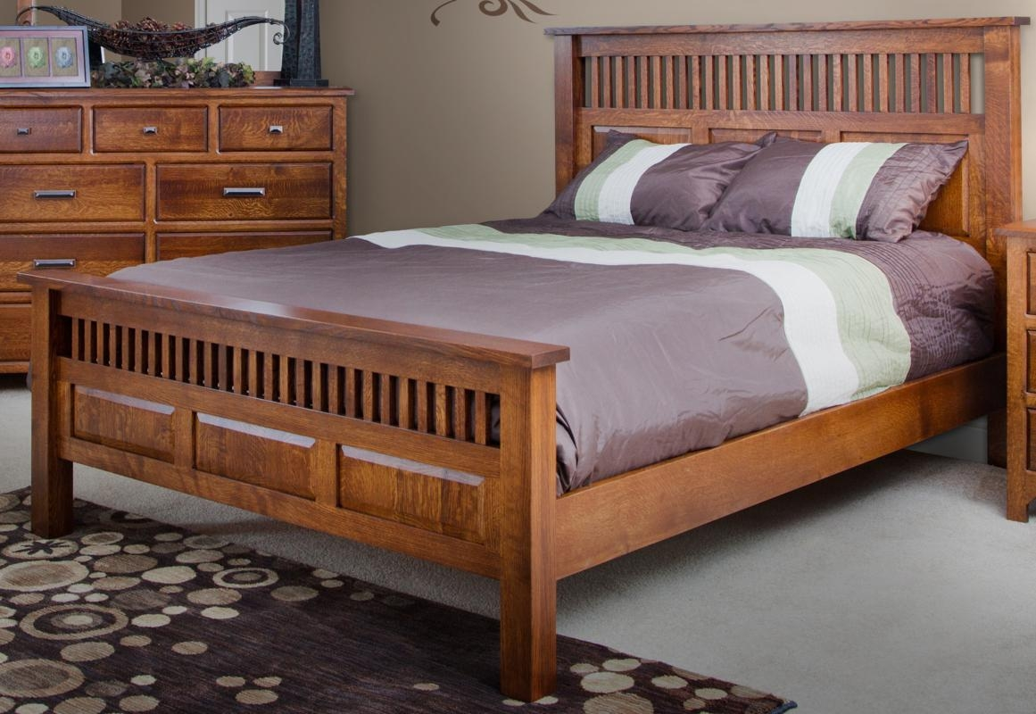 Mission Style Bed Frame With Storage