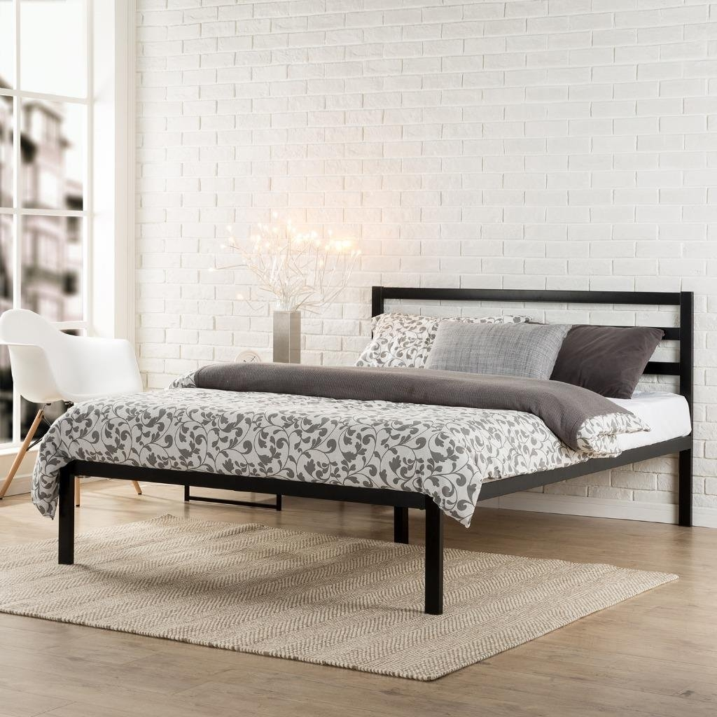 Modern Black Metal Bed Frame