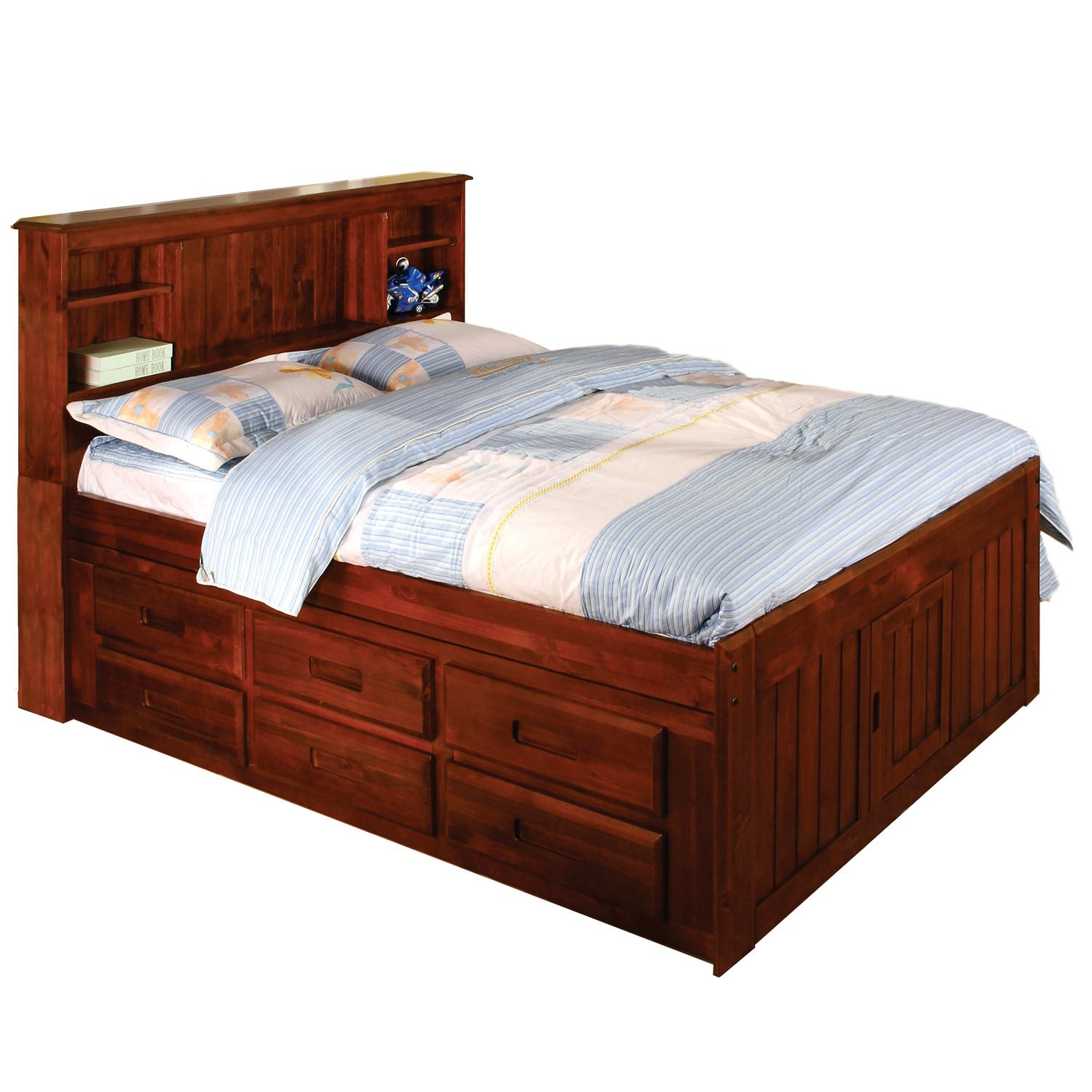 Oak Twin Bed Frame With Drawers