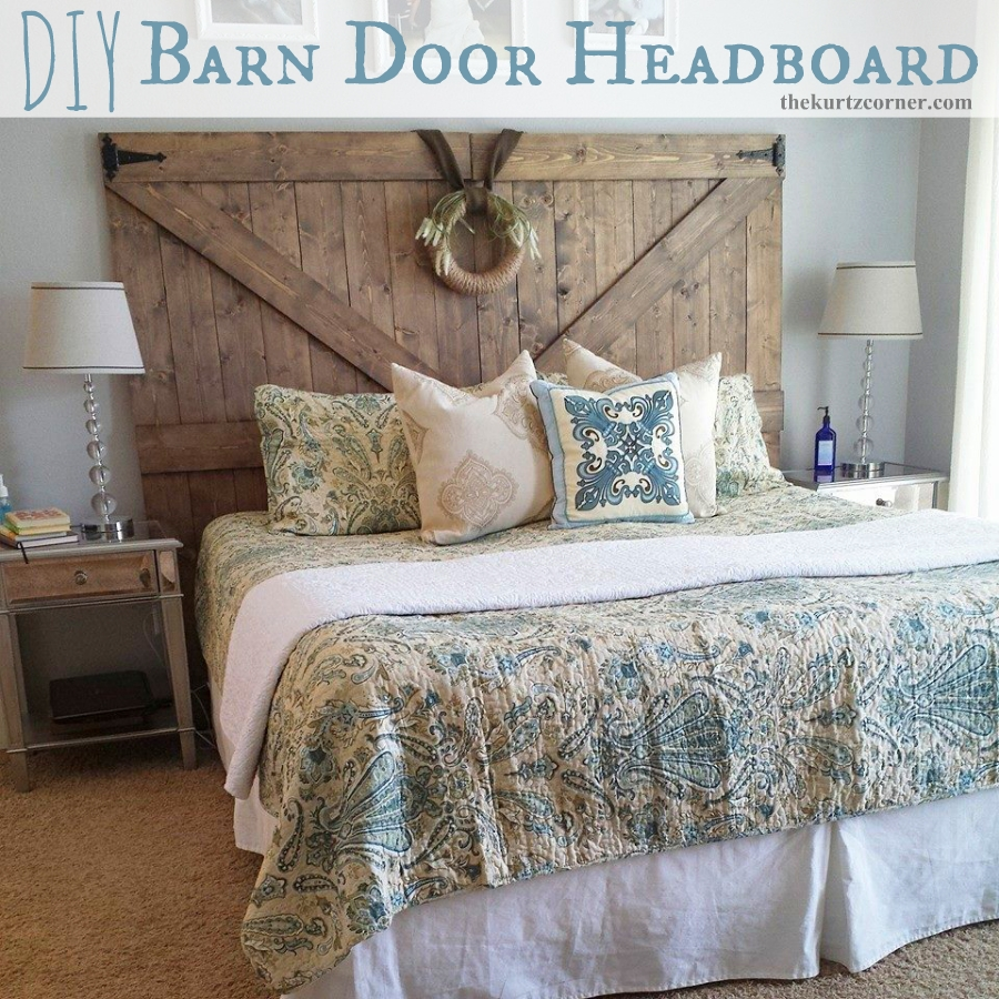 Old Barn Door Bed Frame