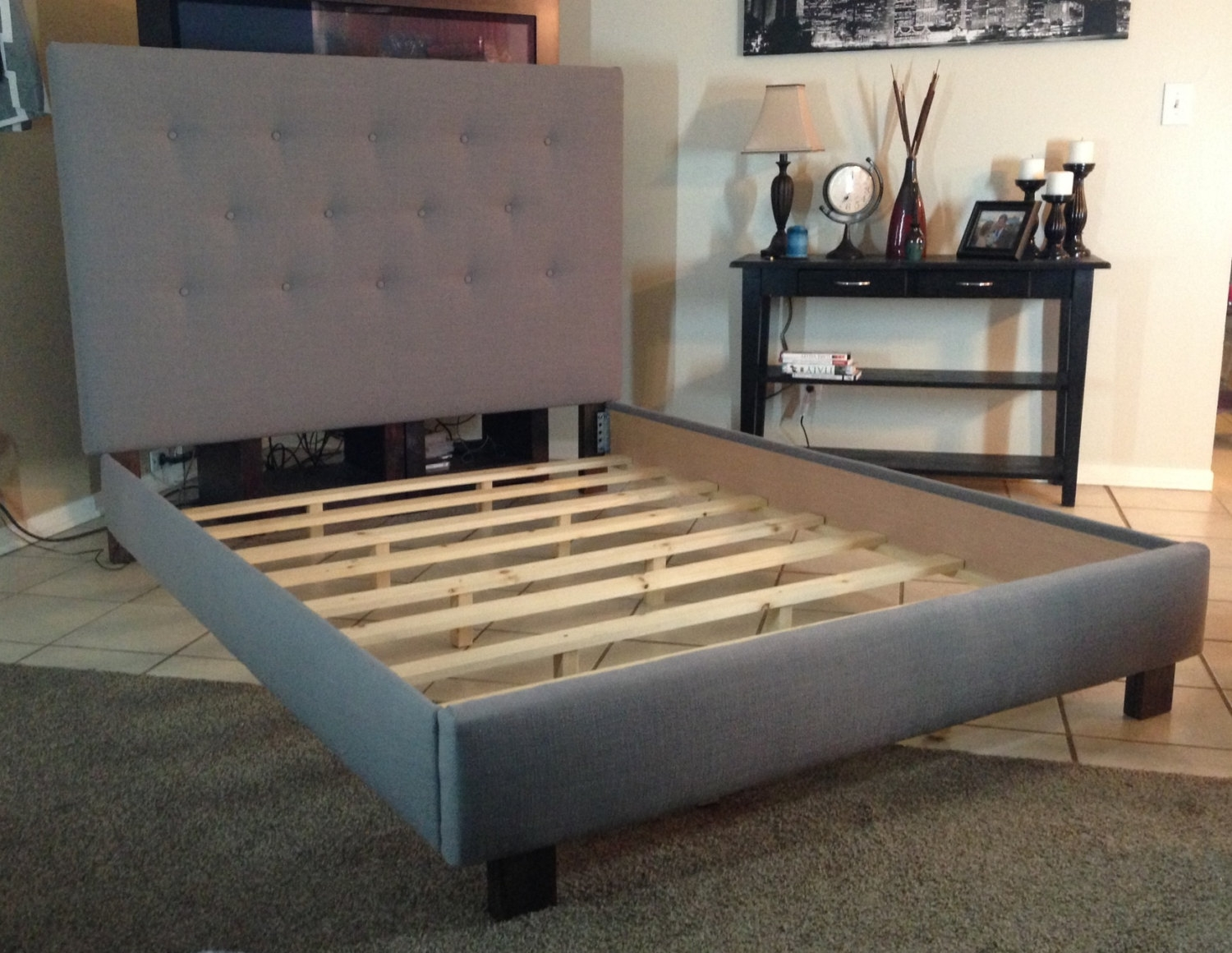 Queen Bed Frame For Headboard Only