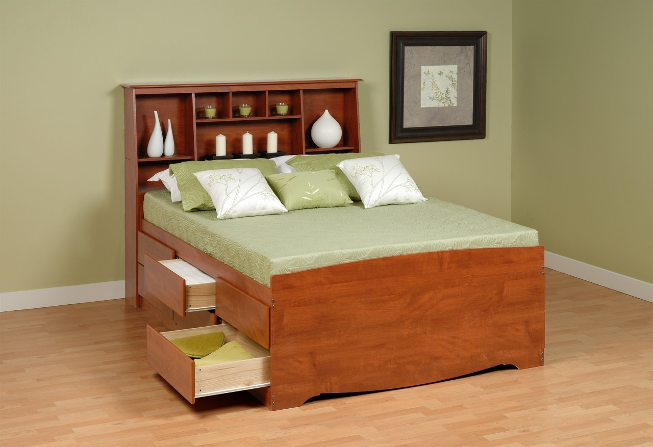 Permalink to Queen Bed Frame With Drawers And Headboard