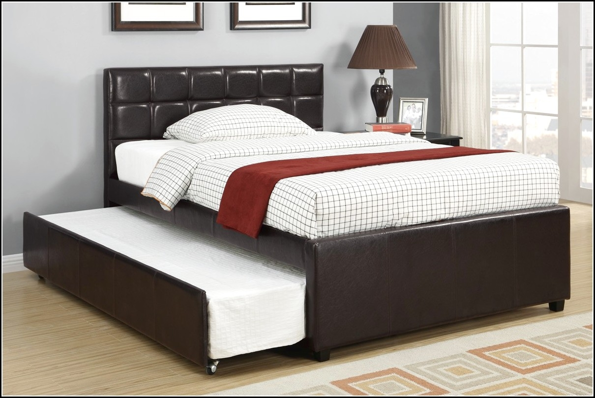 Queen Bed Frame With Full Trundle