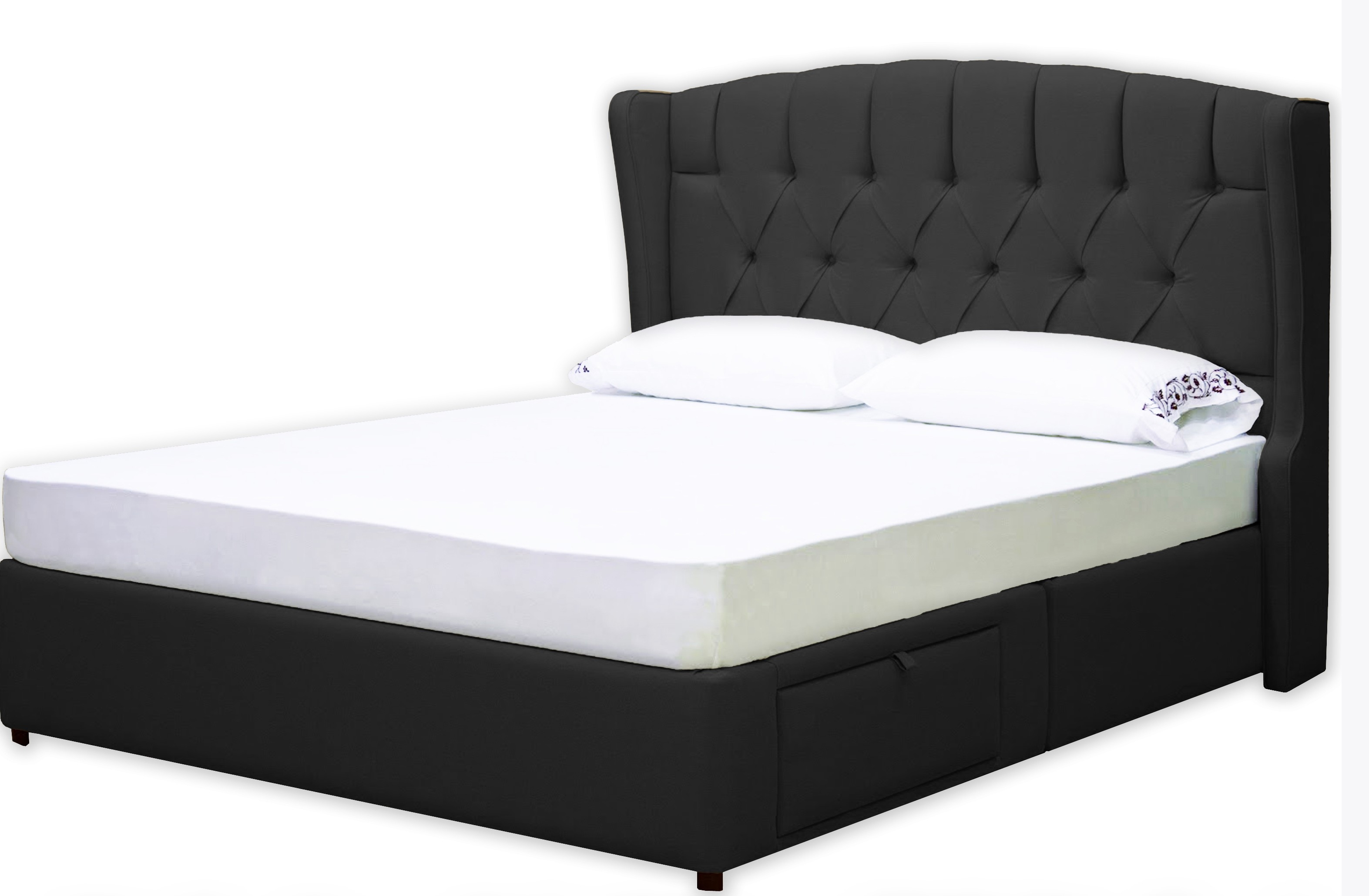 Queen Bed Frame With Headboard And Footboard Hooks
