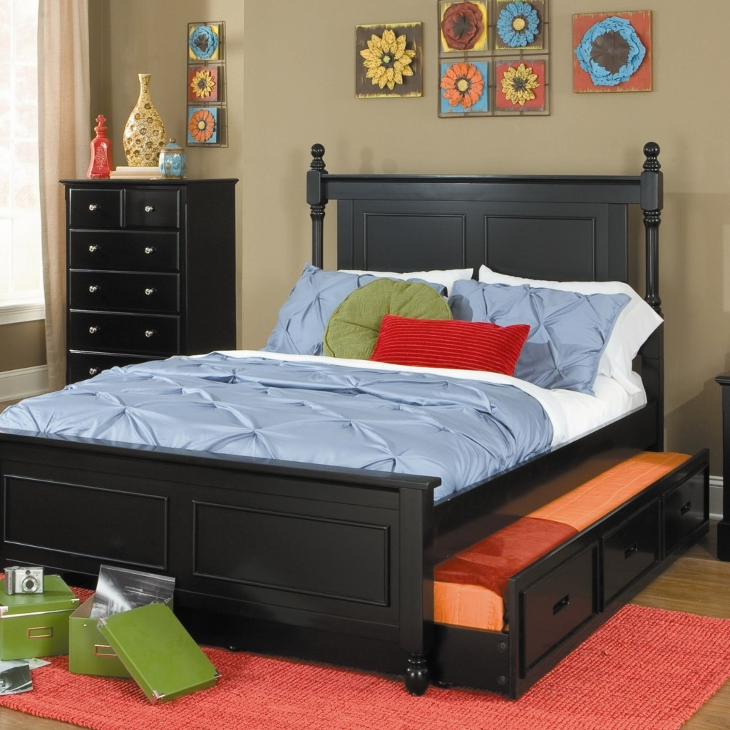 Permalink to Queen Bed Frame With Twin Trundle