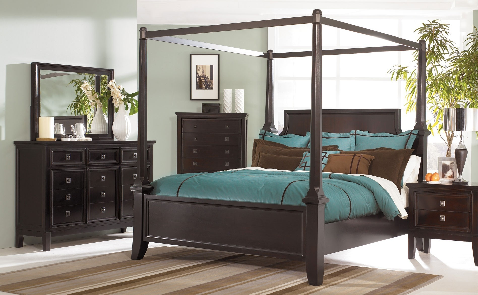Queen Canopy Bed Frame Wood