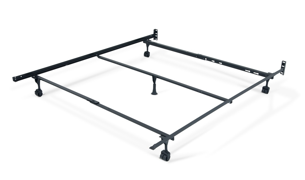 Queen Metal Bed Frame With Casters
