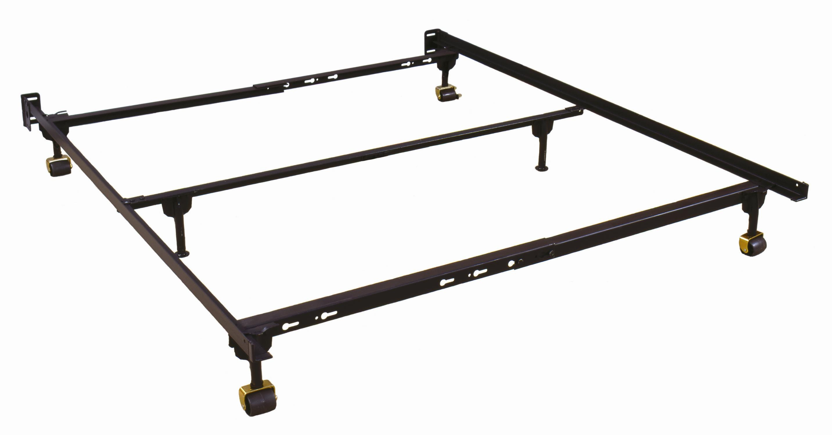 Queen Metal Bed Frame With Wheels