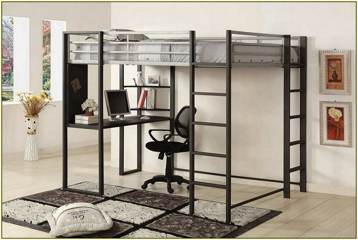 Queen Size Loft Bed Frame For Adults