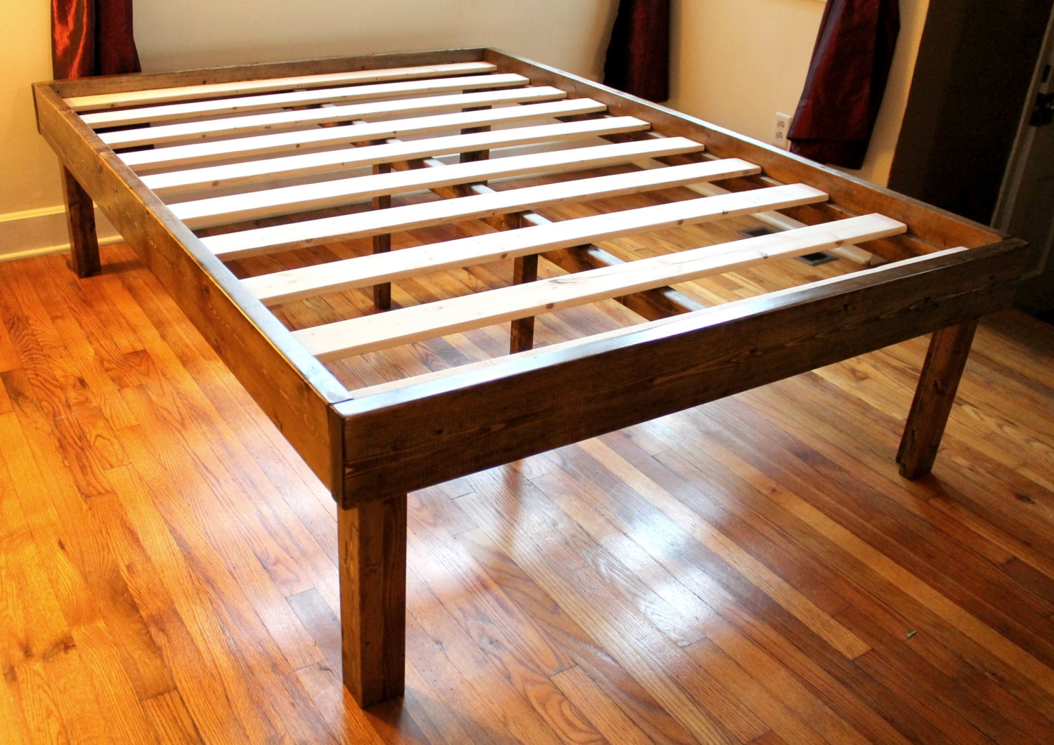 Permalink to Raised Queen Platform Bed Frame