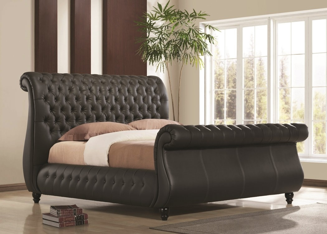 Real Leather Bed Frame