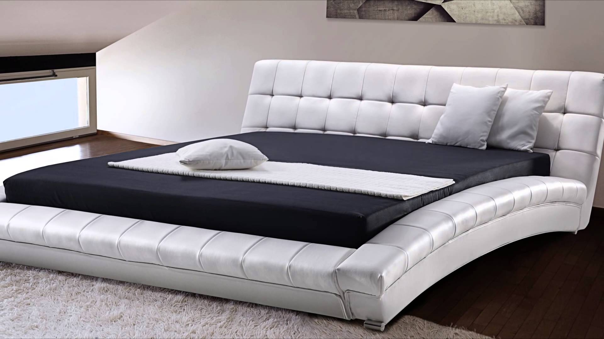 Real Leather Super King Size Bed Frame