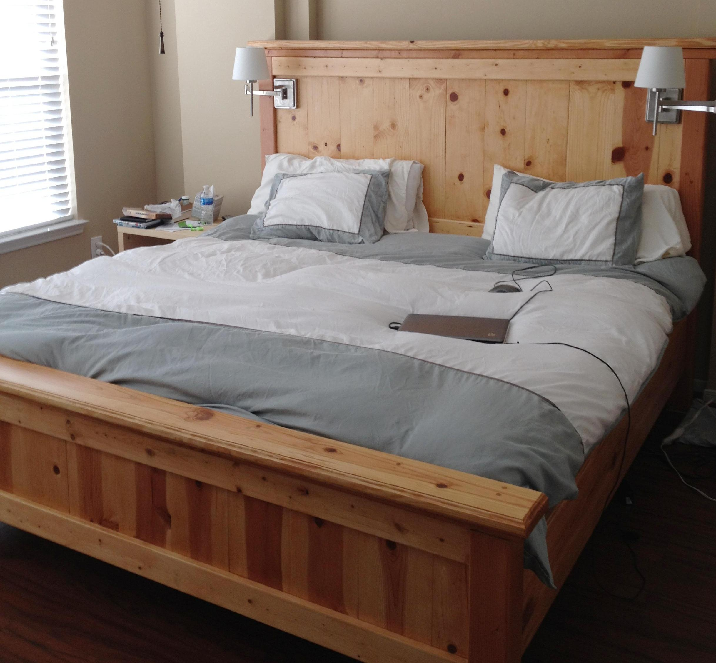 Rustic Pine King Size Bed Frame