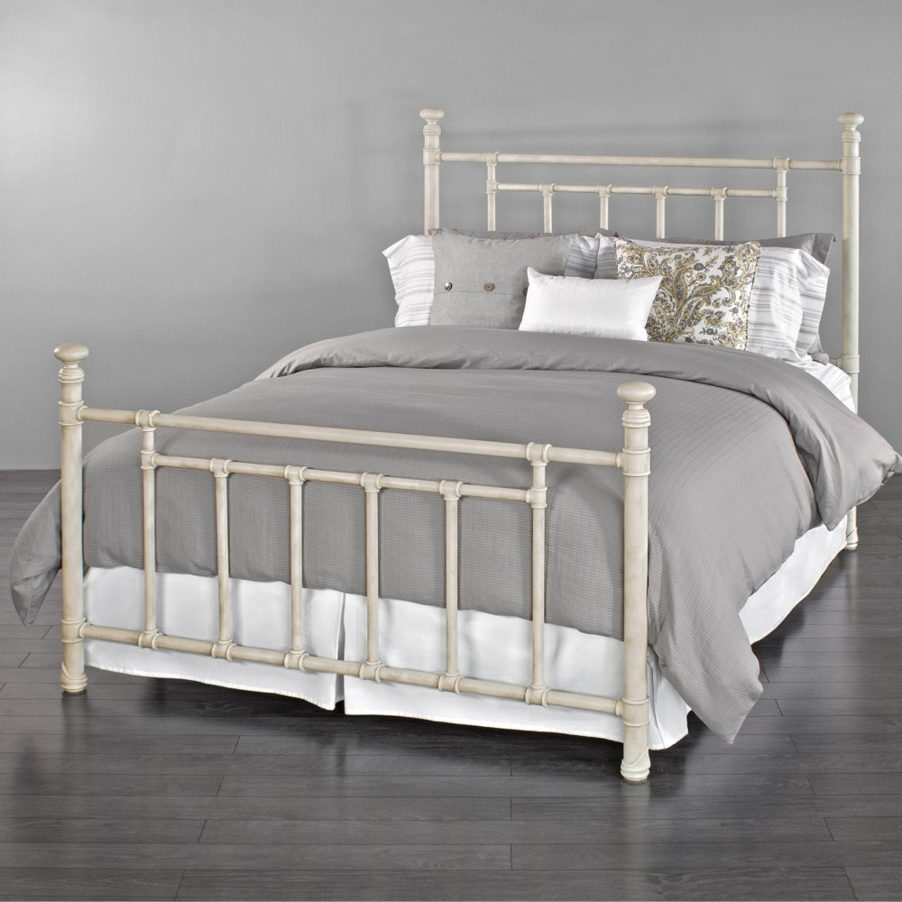 Permalink to Rustic White Metal Bed Frame