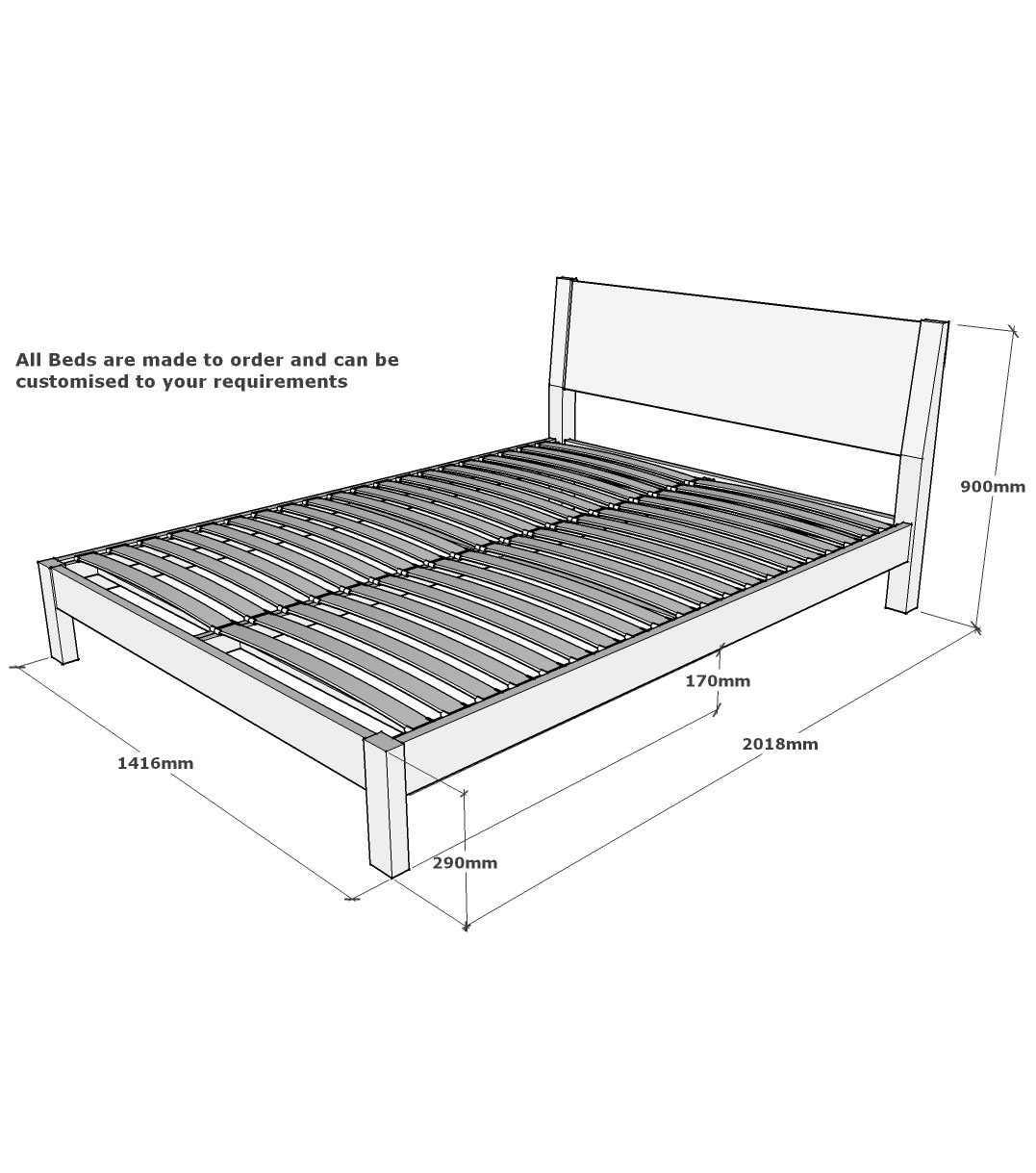 Size Of Standard Bed Frame