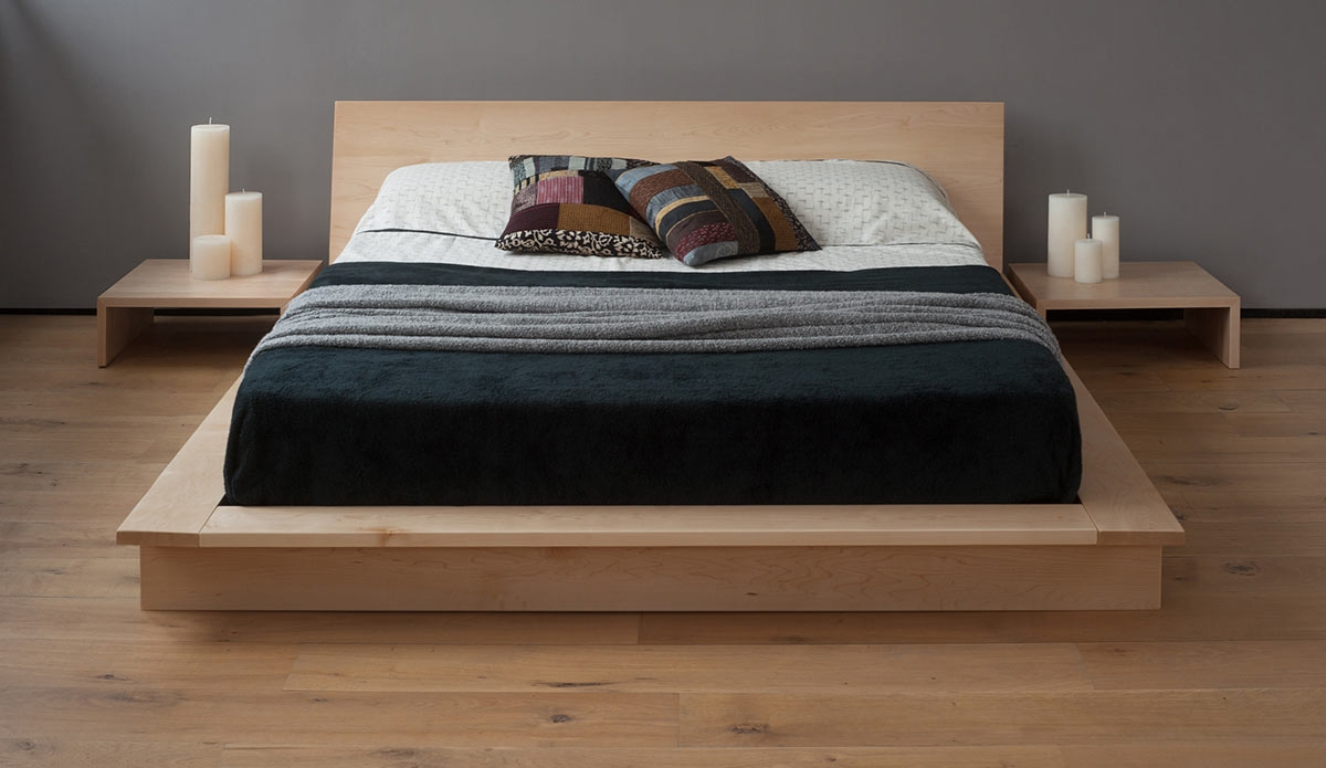 Solid Oak Platform Bed Frame
