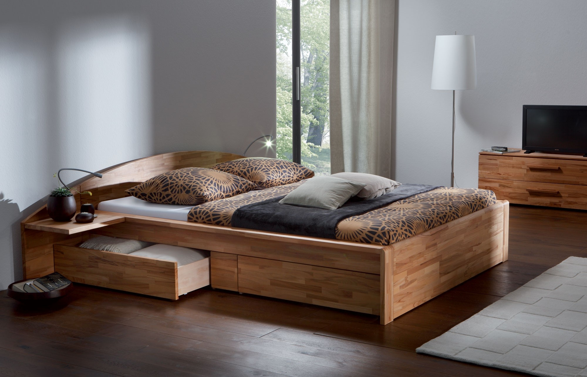 Solid Wood Box Bed Frame