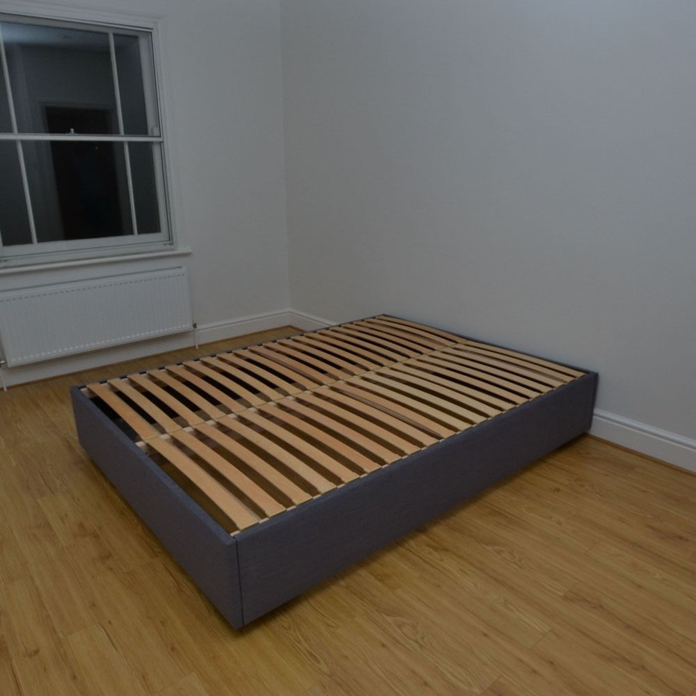 Sprung Base For Bed Framefleming small double 4ft custom upholstered bed frame with beech