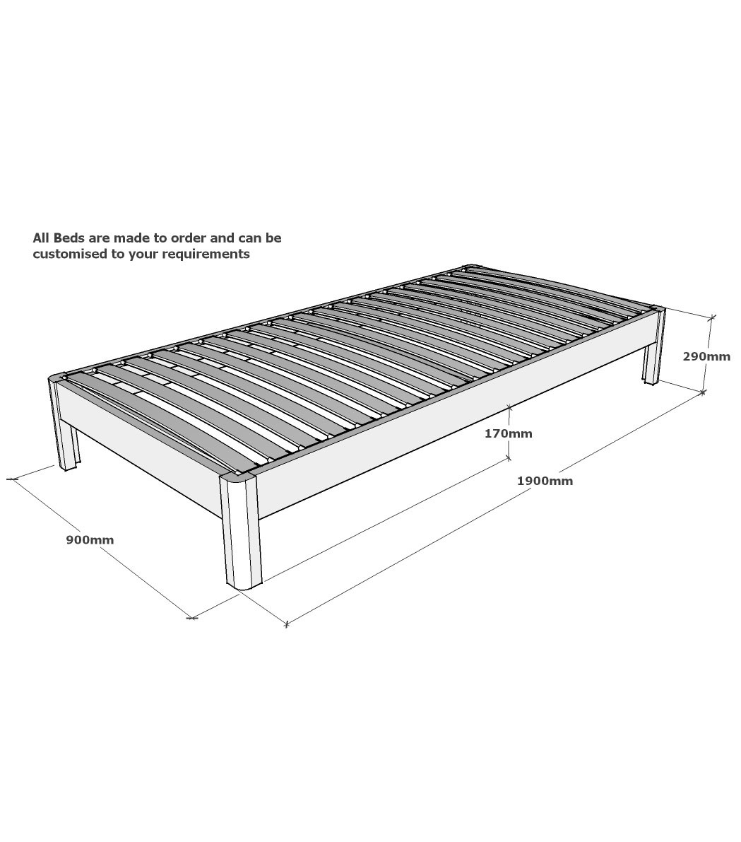 Standard Single Bed Frame Size1049 X 1191