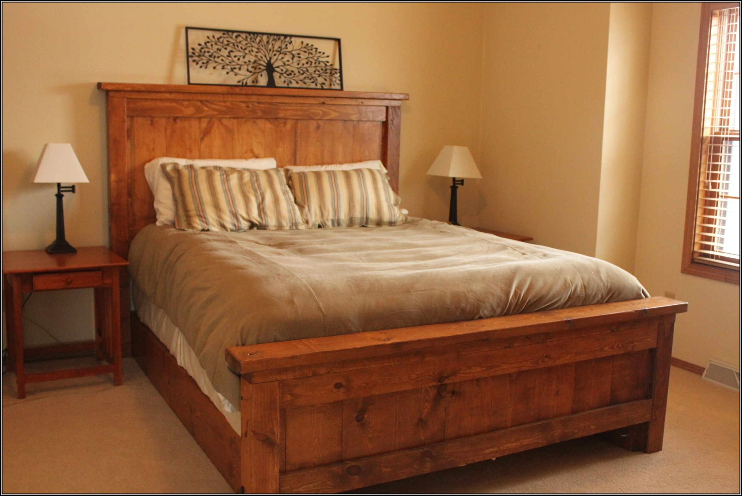 Tall Wood Bed Frame