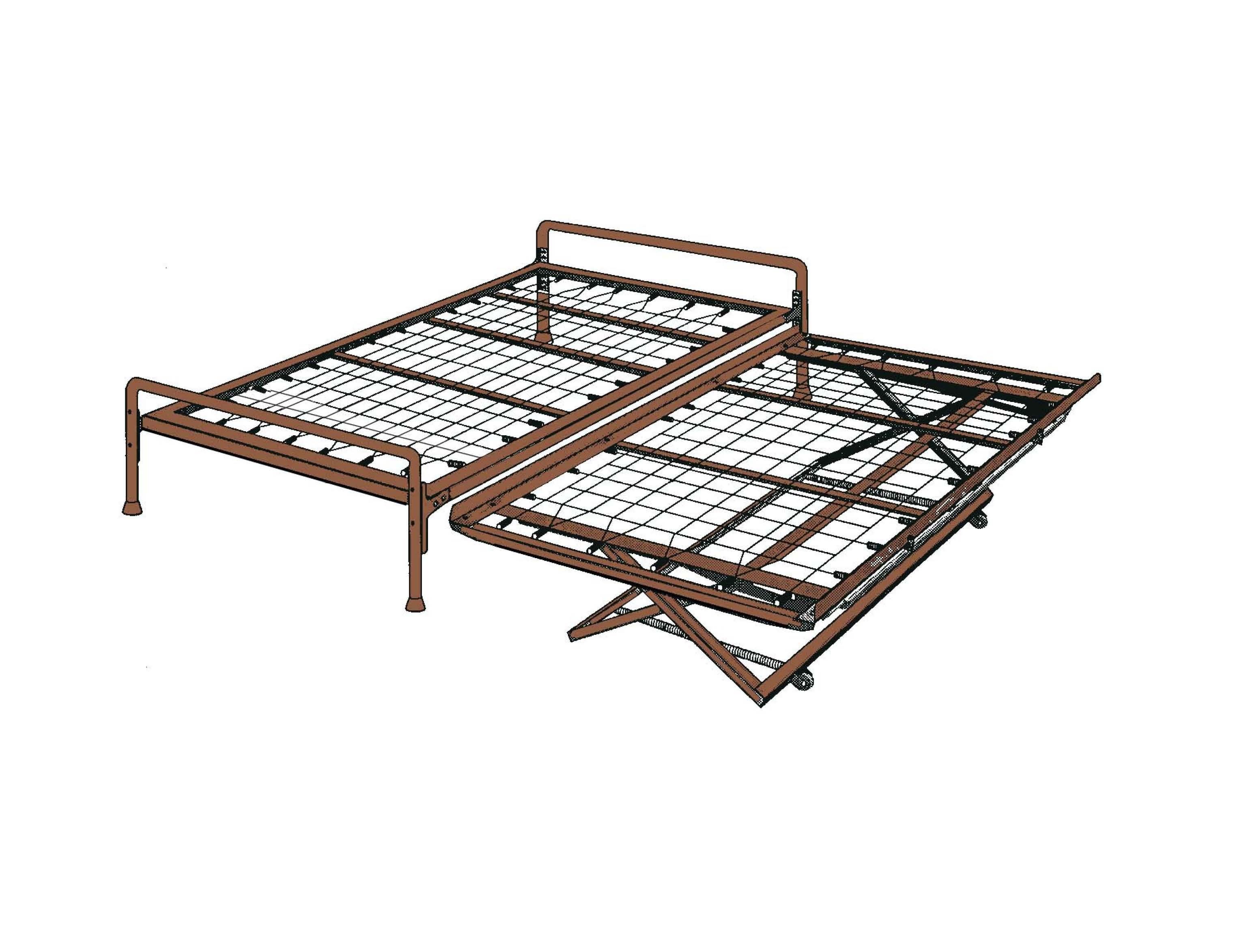 Trundle Bed With Pop Up Frame