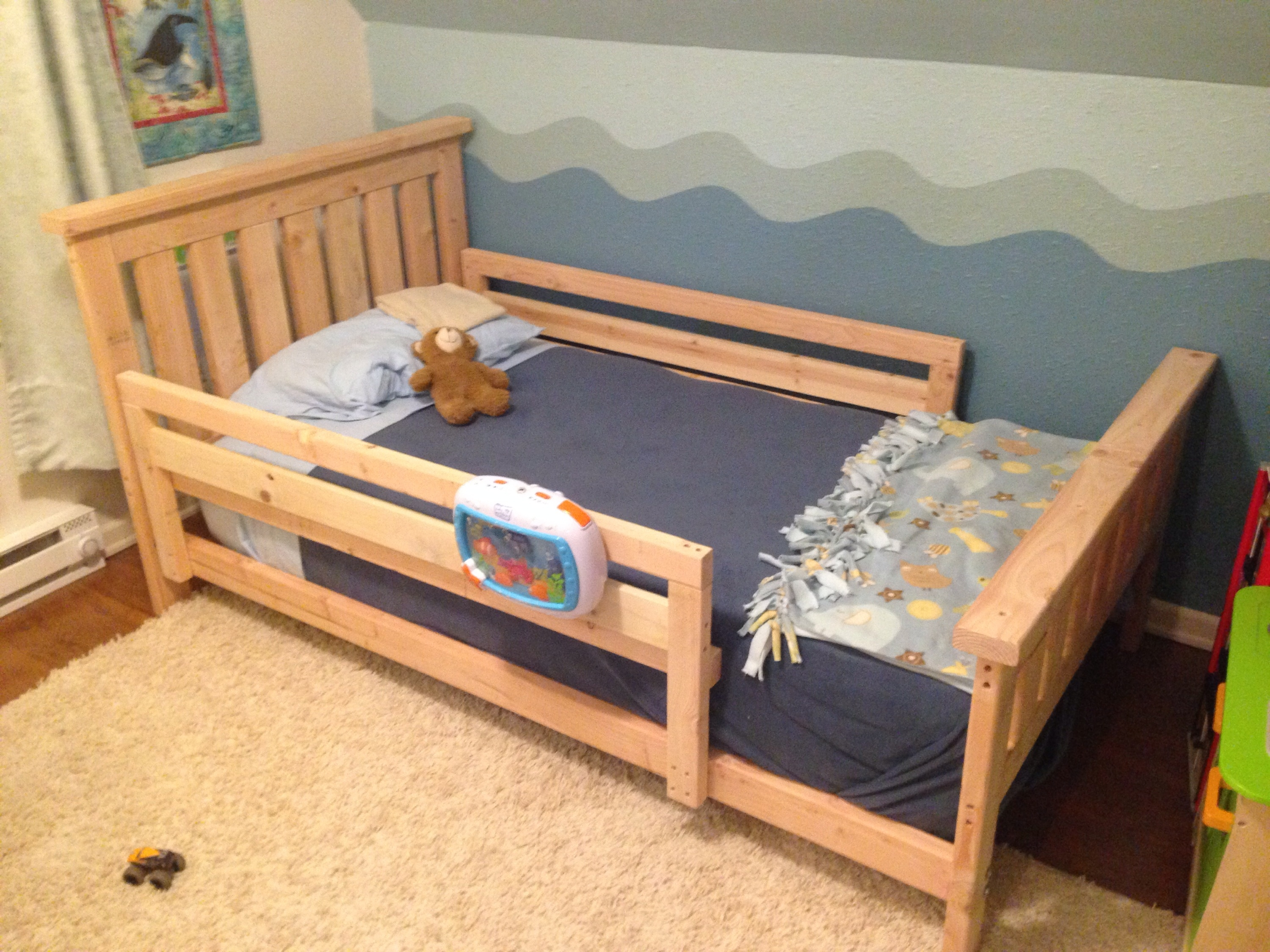 Twin Bed Frame With Safety Rails