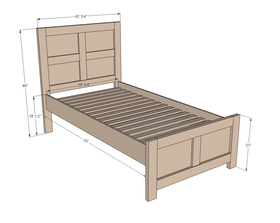 Twin Bed Frame Wood Plans