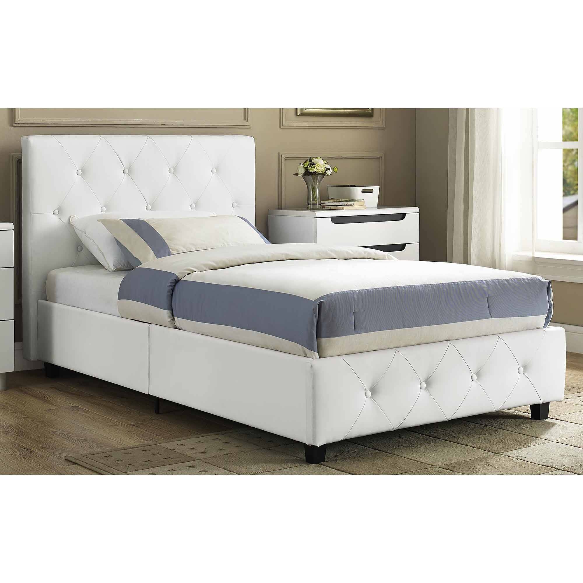 Twin Leather Bed Frame