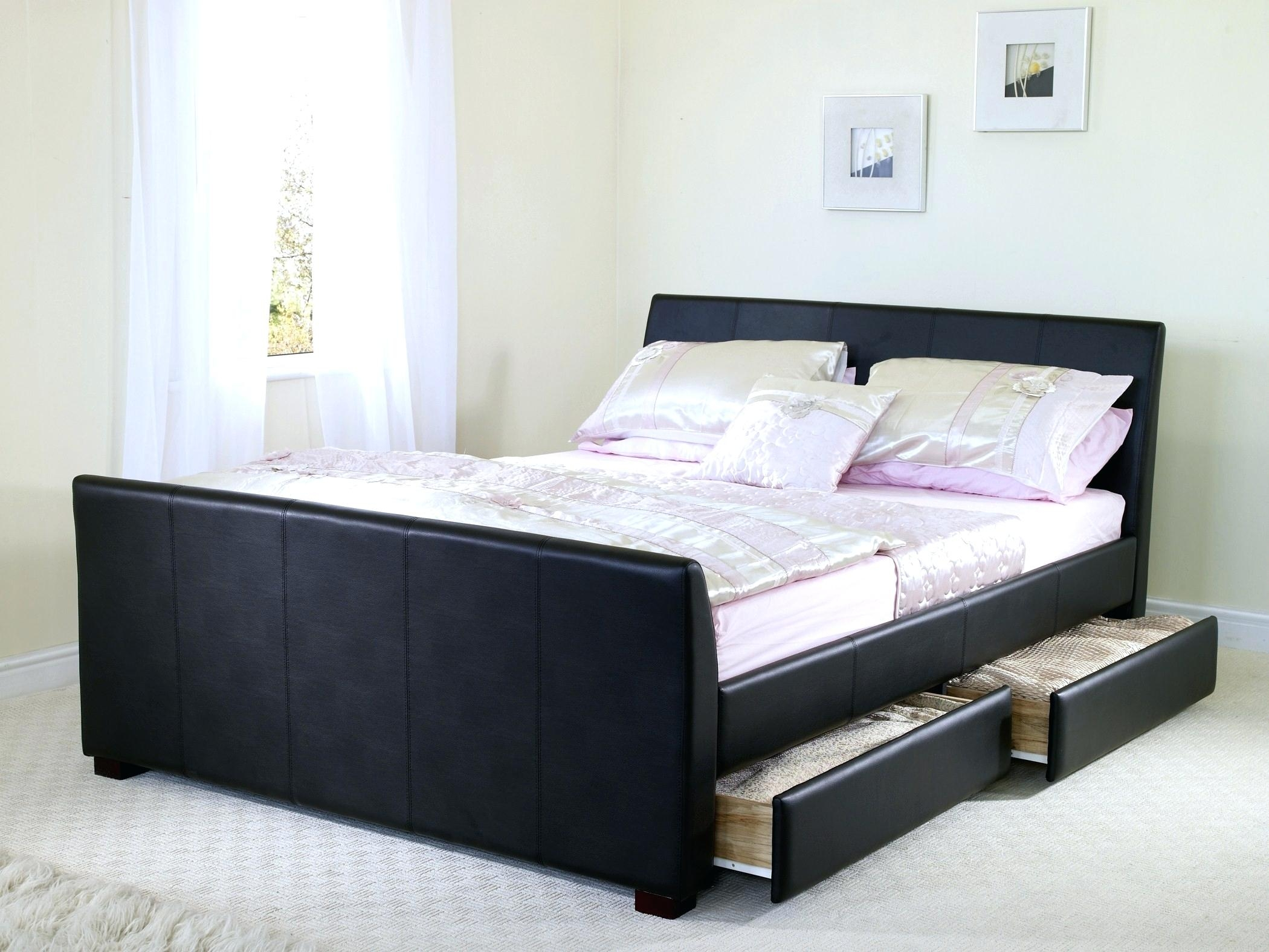Twin Size Bed Frame With Drawers