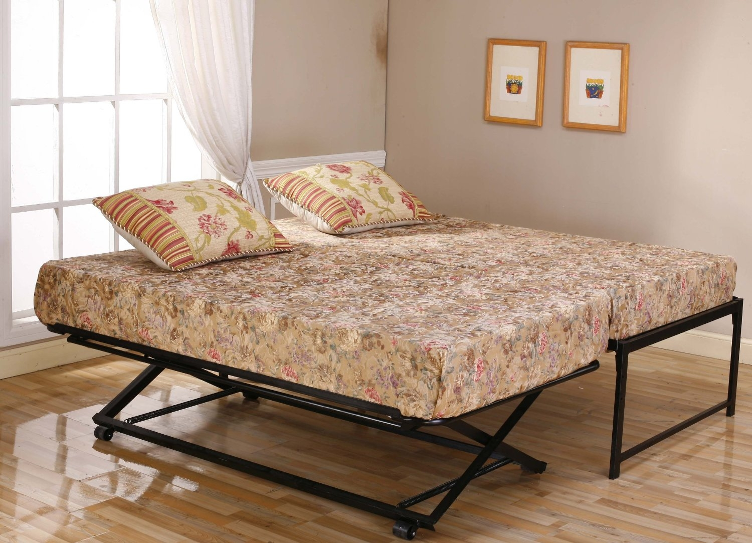 Twin Size Daybed Frame Pop Up Trundle