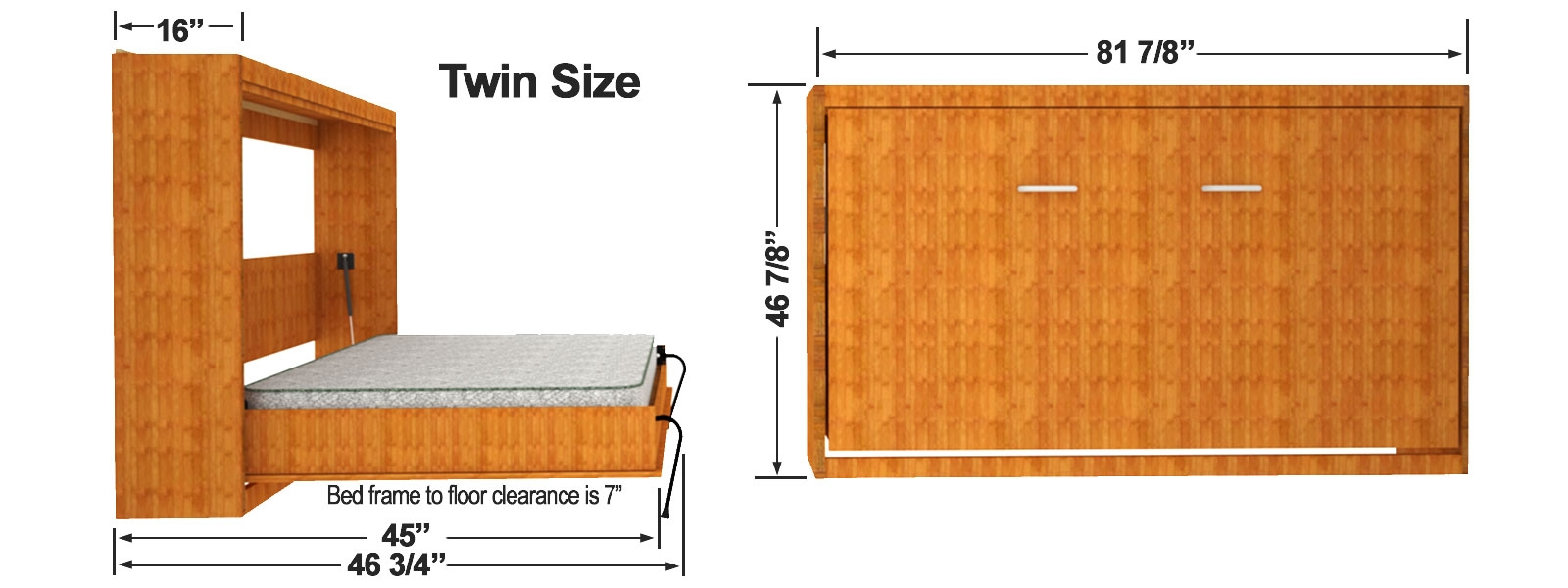 Twin Size Murphy Bed Frame