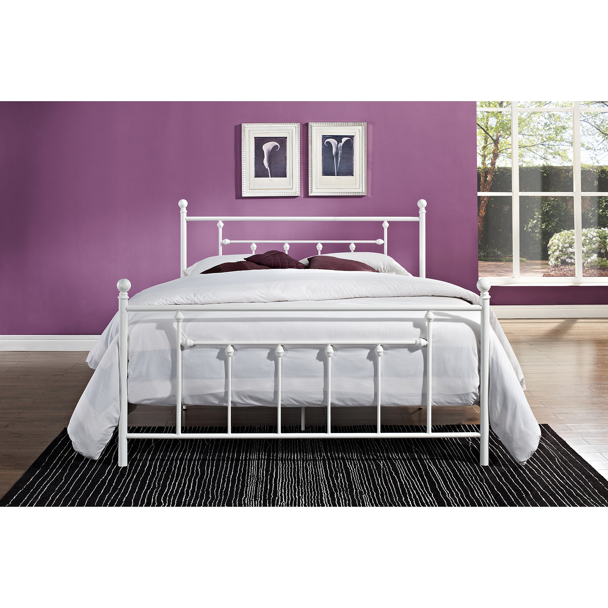 White Iron Bed Frame Full Size