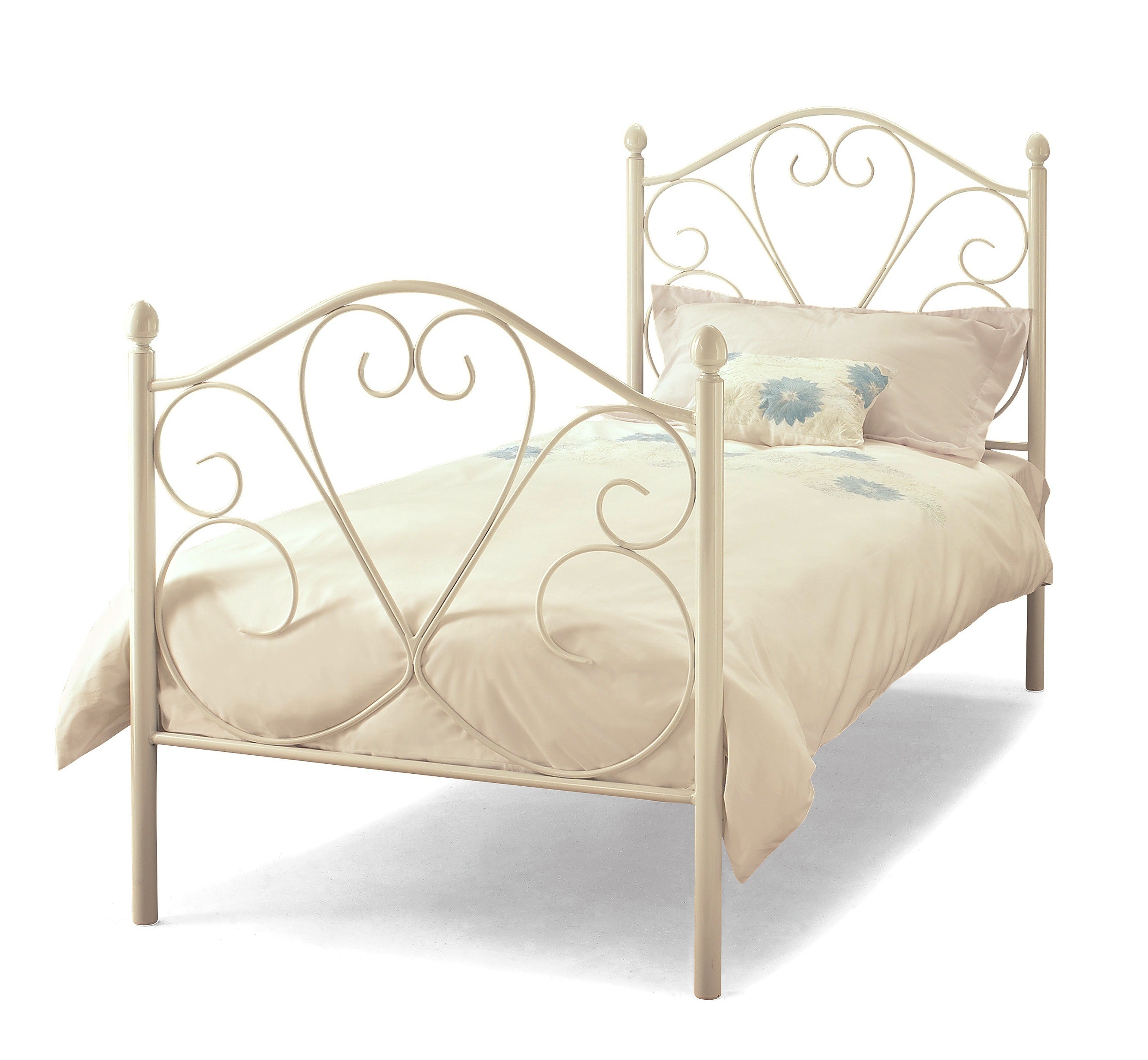 Permalink to White Metal Framed Bed Single