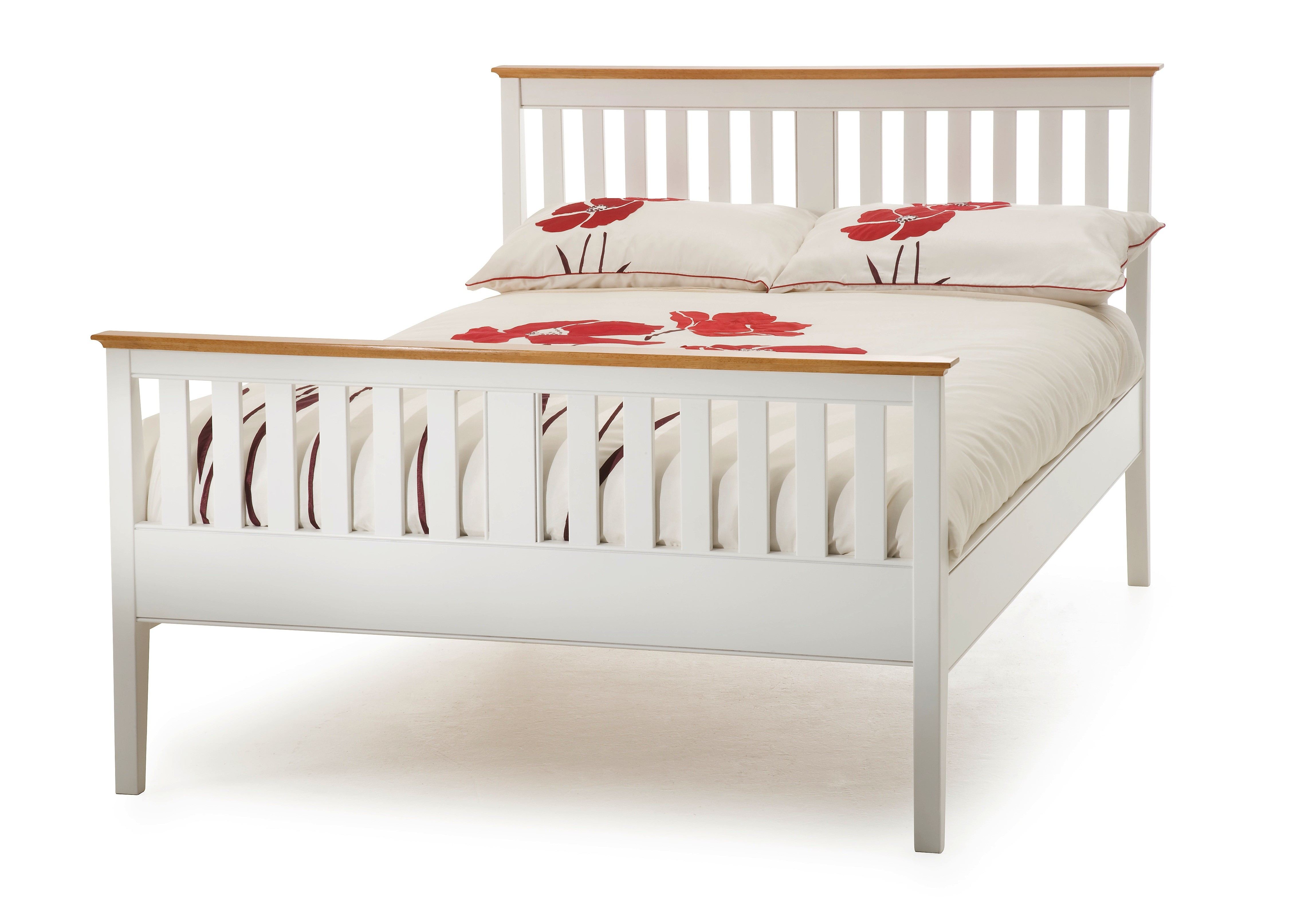 White Wood Super King Bed Frame