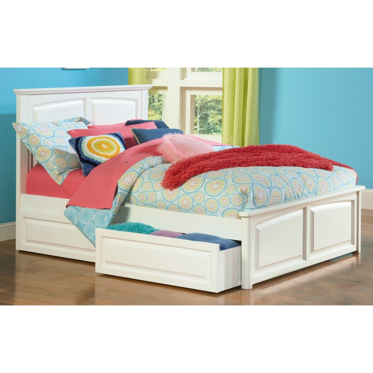 Permalink to White Wooden Twin Bed Frame