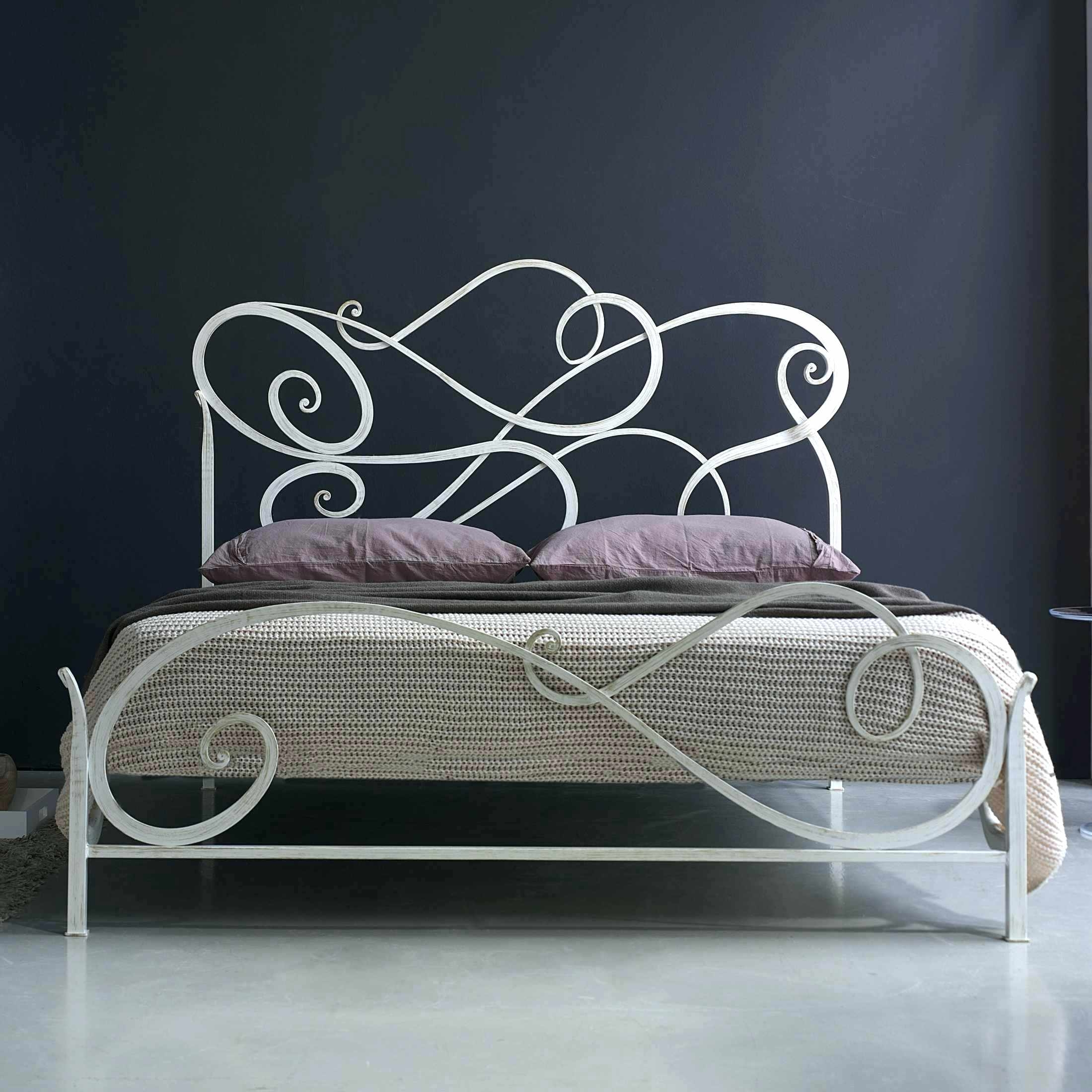 White Wrought Iron Bed Frame