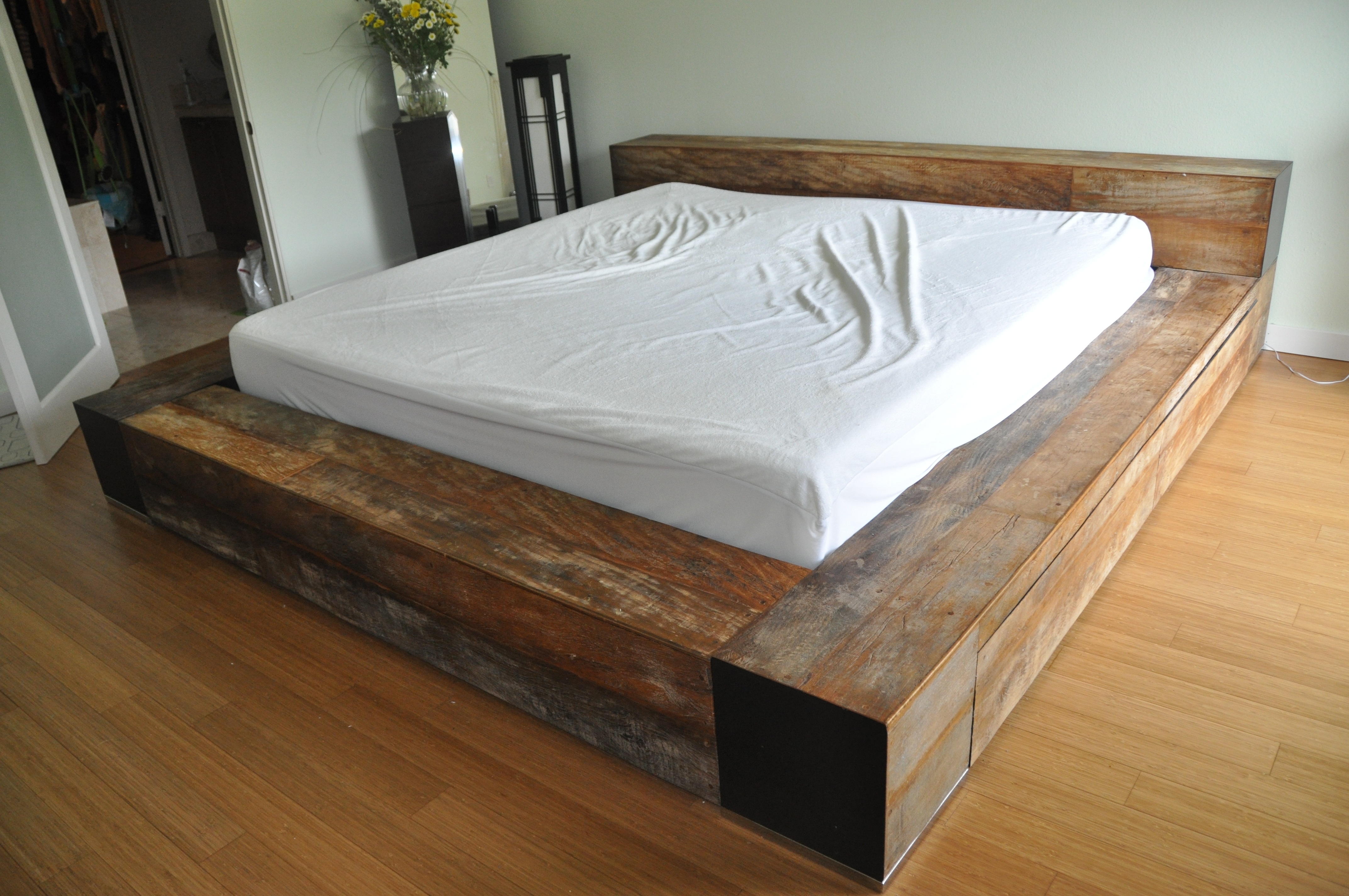 Permalink to Wood Box Bed Frame King