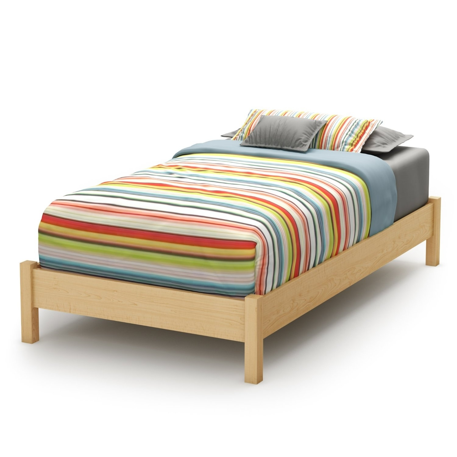 Wood Twin Bed Frame With Headboardtwin size platform bed