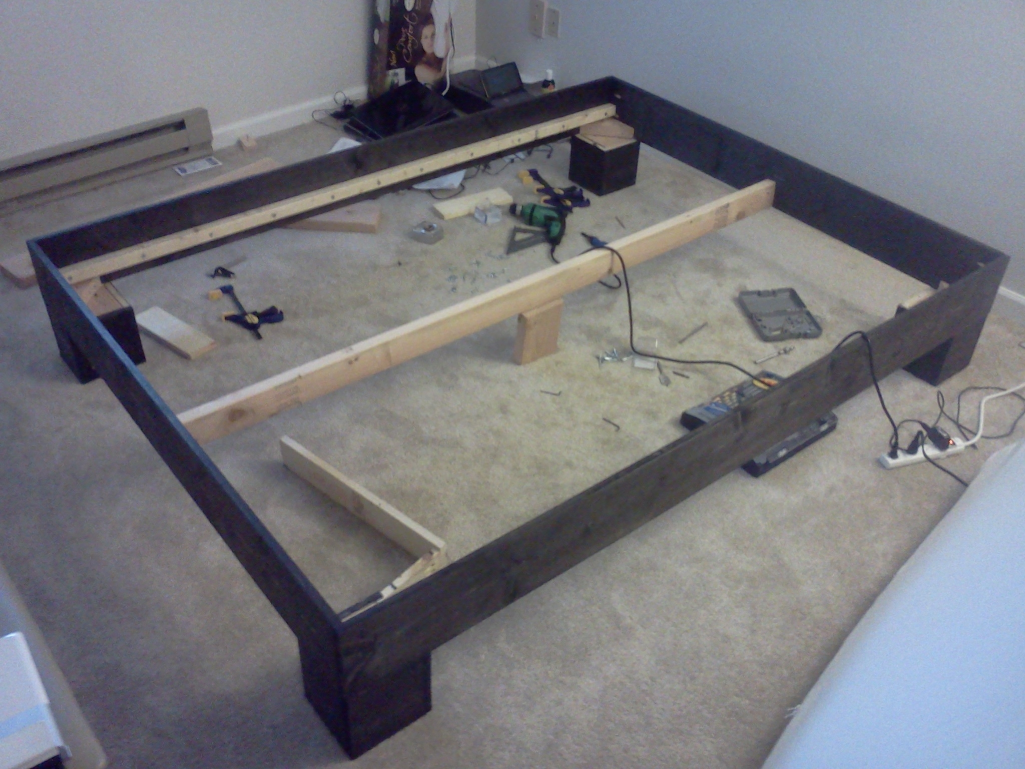 Wooden Bed Frame Support Legs