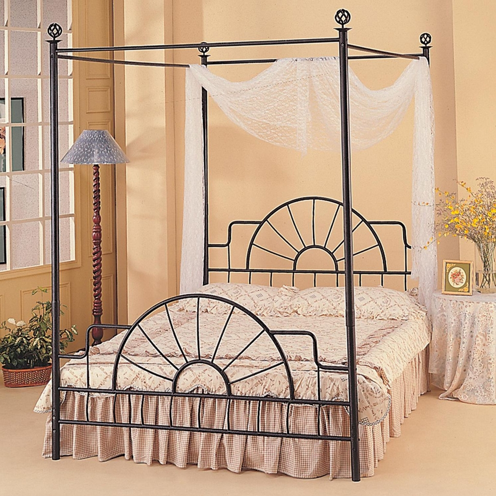 Permalink to Wrought Iron Canopy Bed Frame Queen