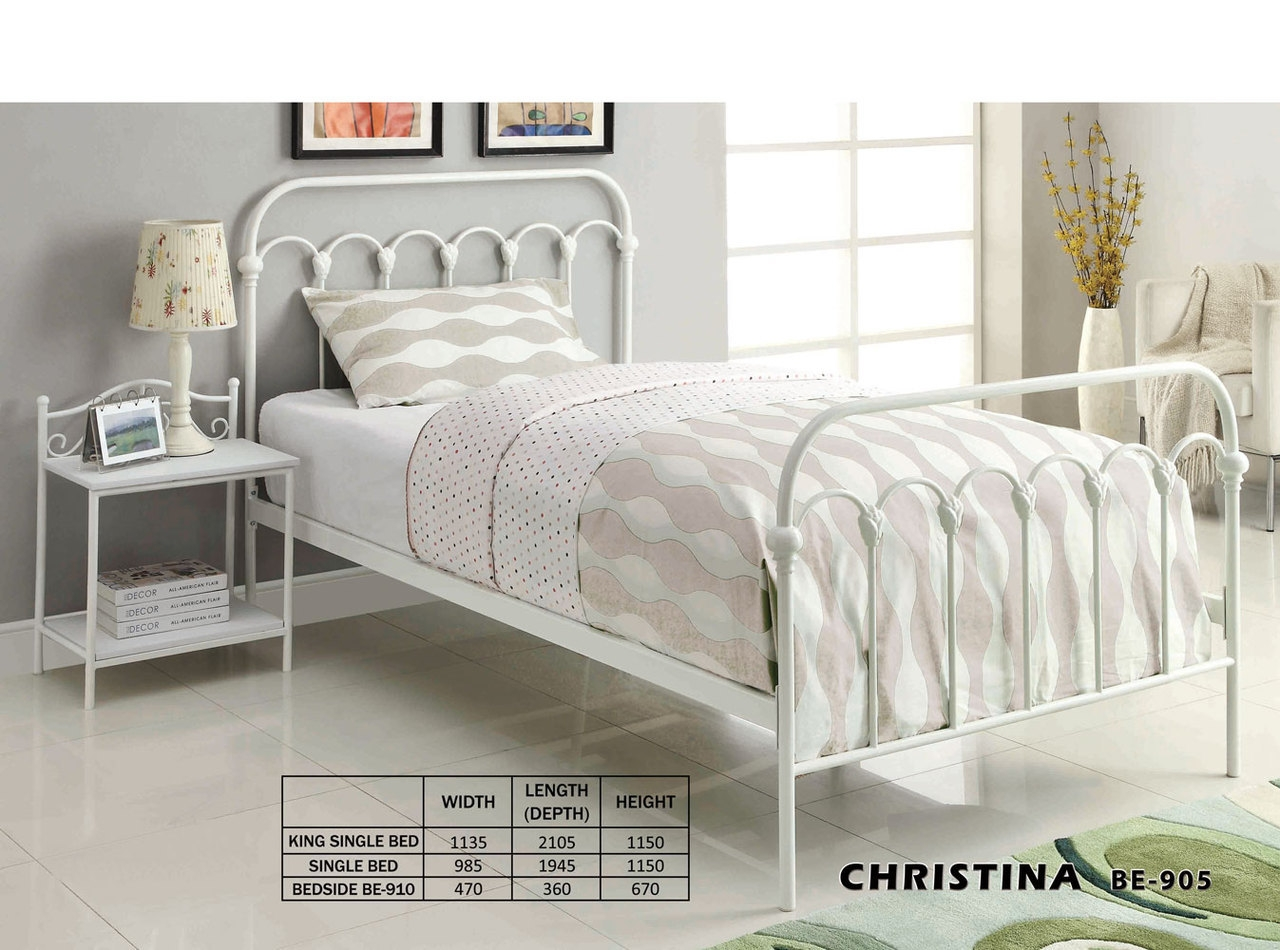 Wrought Iron King Single Bed Frame